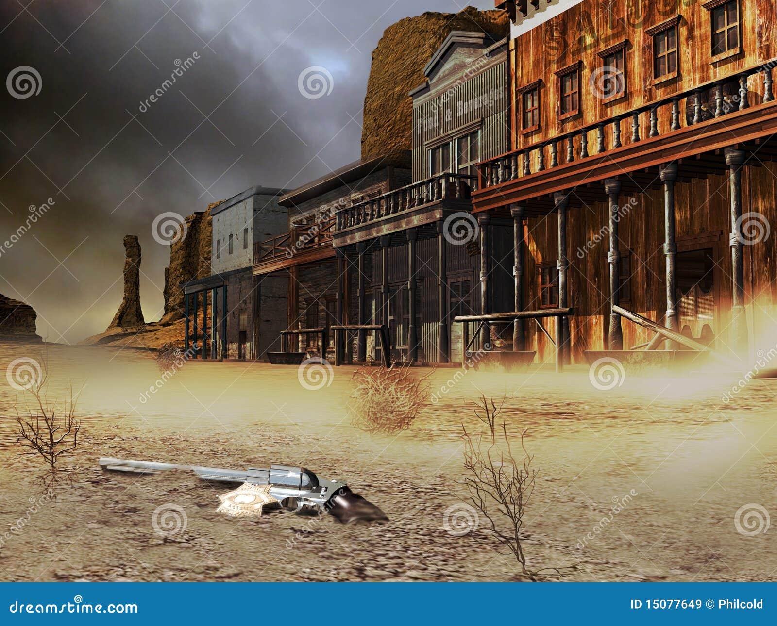 Ville occidentale abandonnée