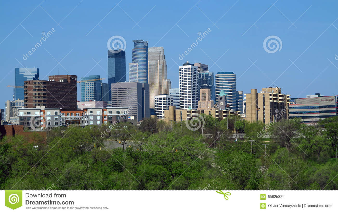 Ville urbaine 20 de Minneapolis