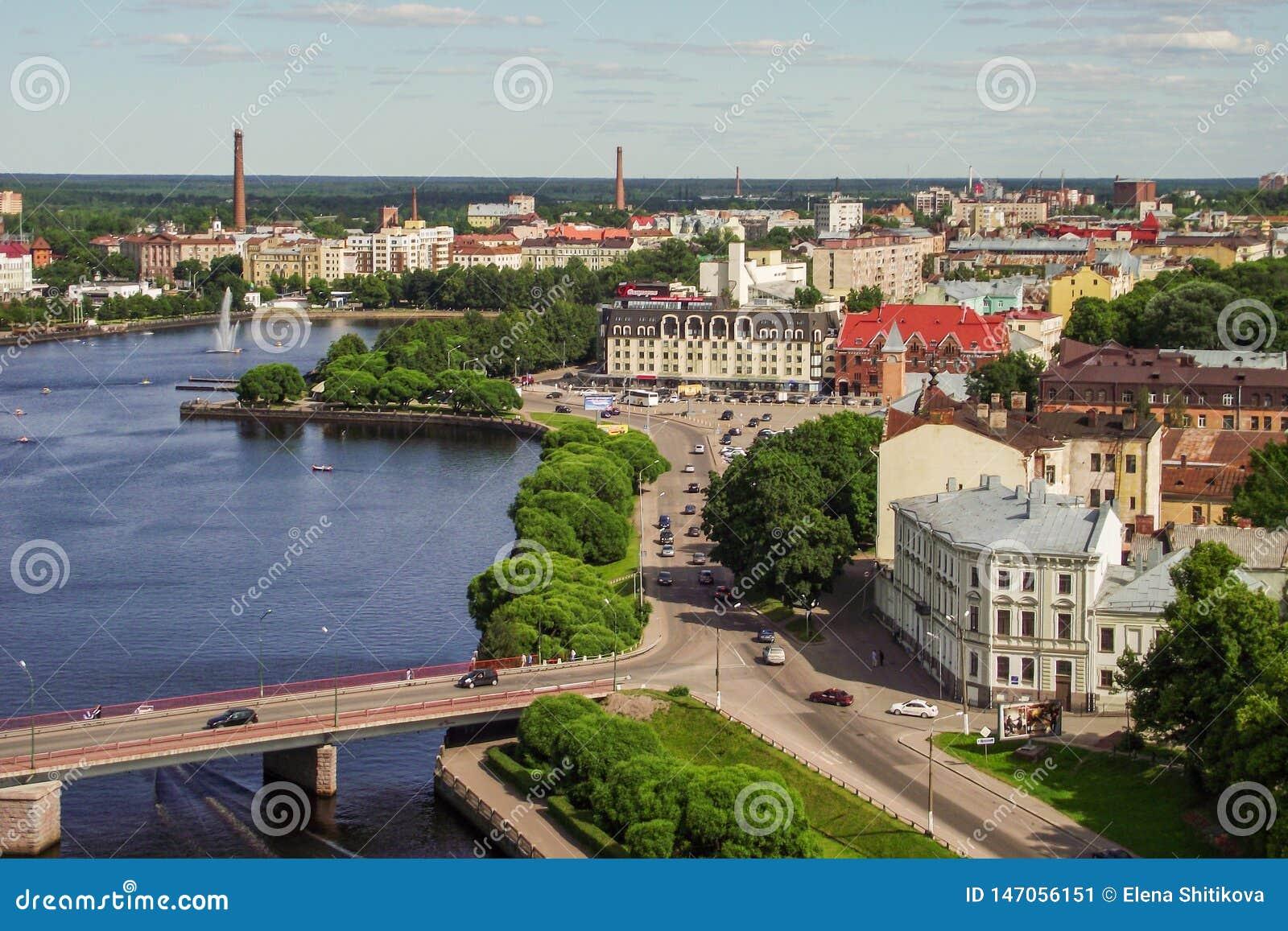 Ville Vyborg Enlevé de la tour de ville