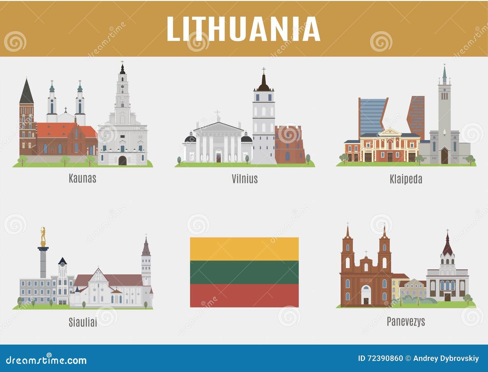 Villes célèbres de Lithuanien d endroits