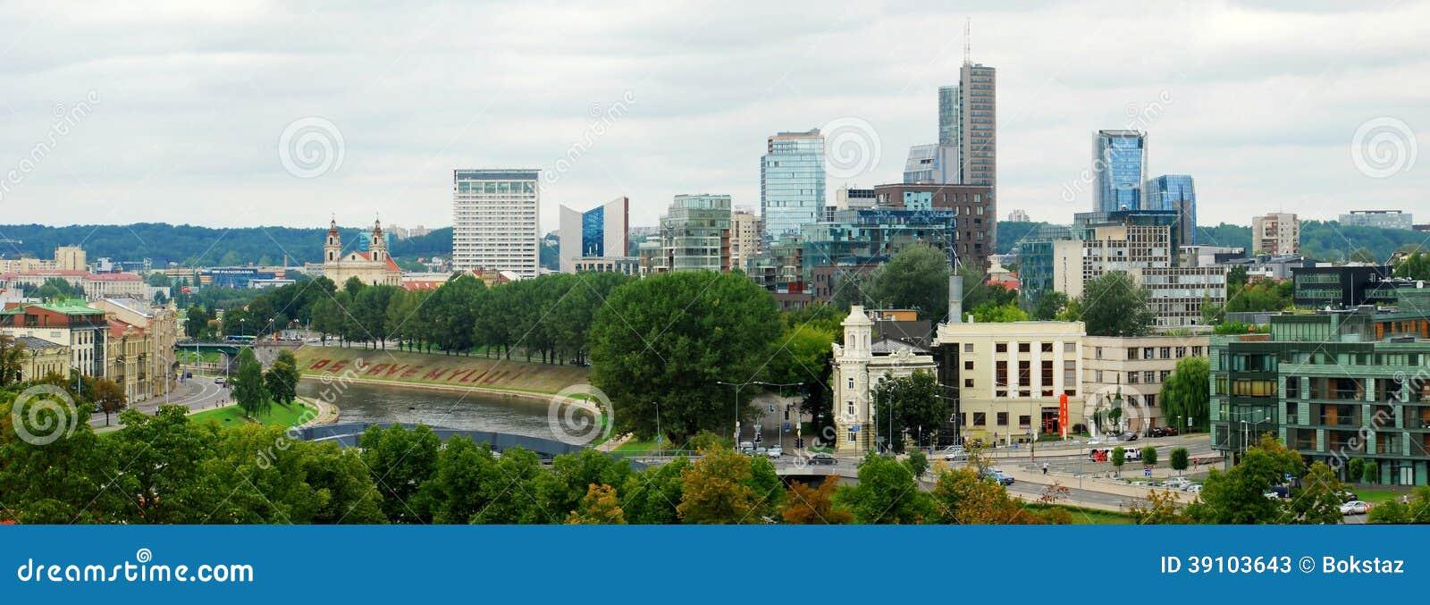 Vilnius. De mening van Heuvel van Hoger Kasteel