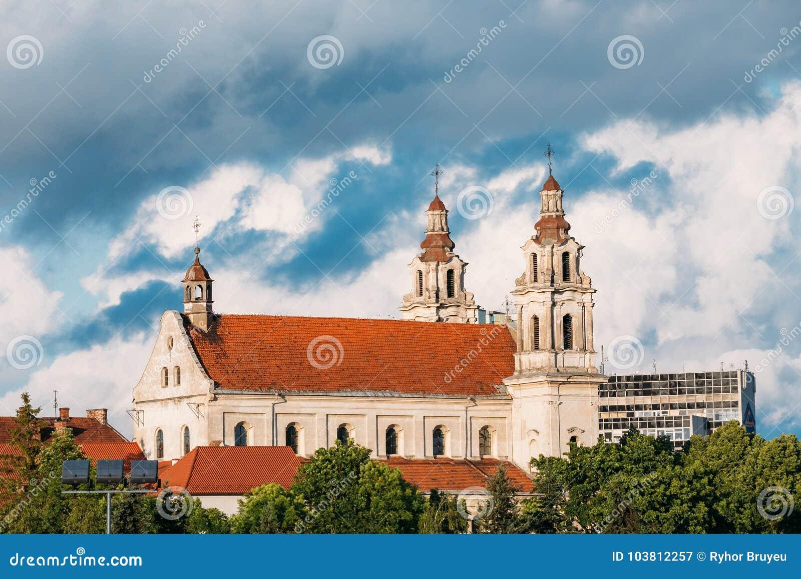 Vilnius, Lituania Iglesia del monasterio de la jesuita del St Raphael The Archangel And Former