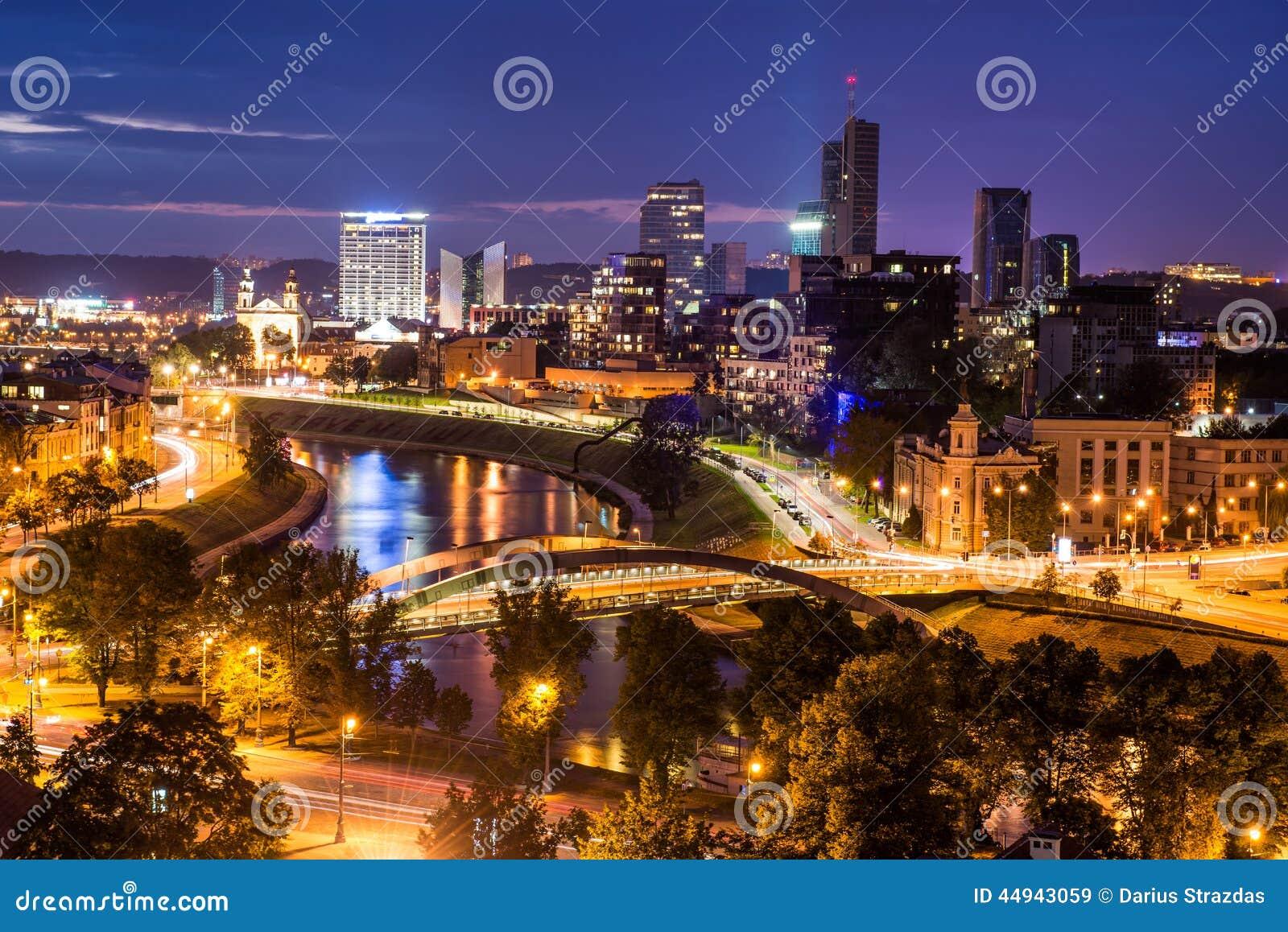 Vilnius night scene