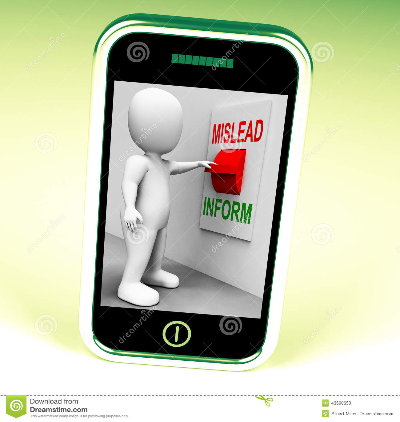 Vilseleda informerar vilseledande strömbrytareshower eller informativ rådgivning