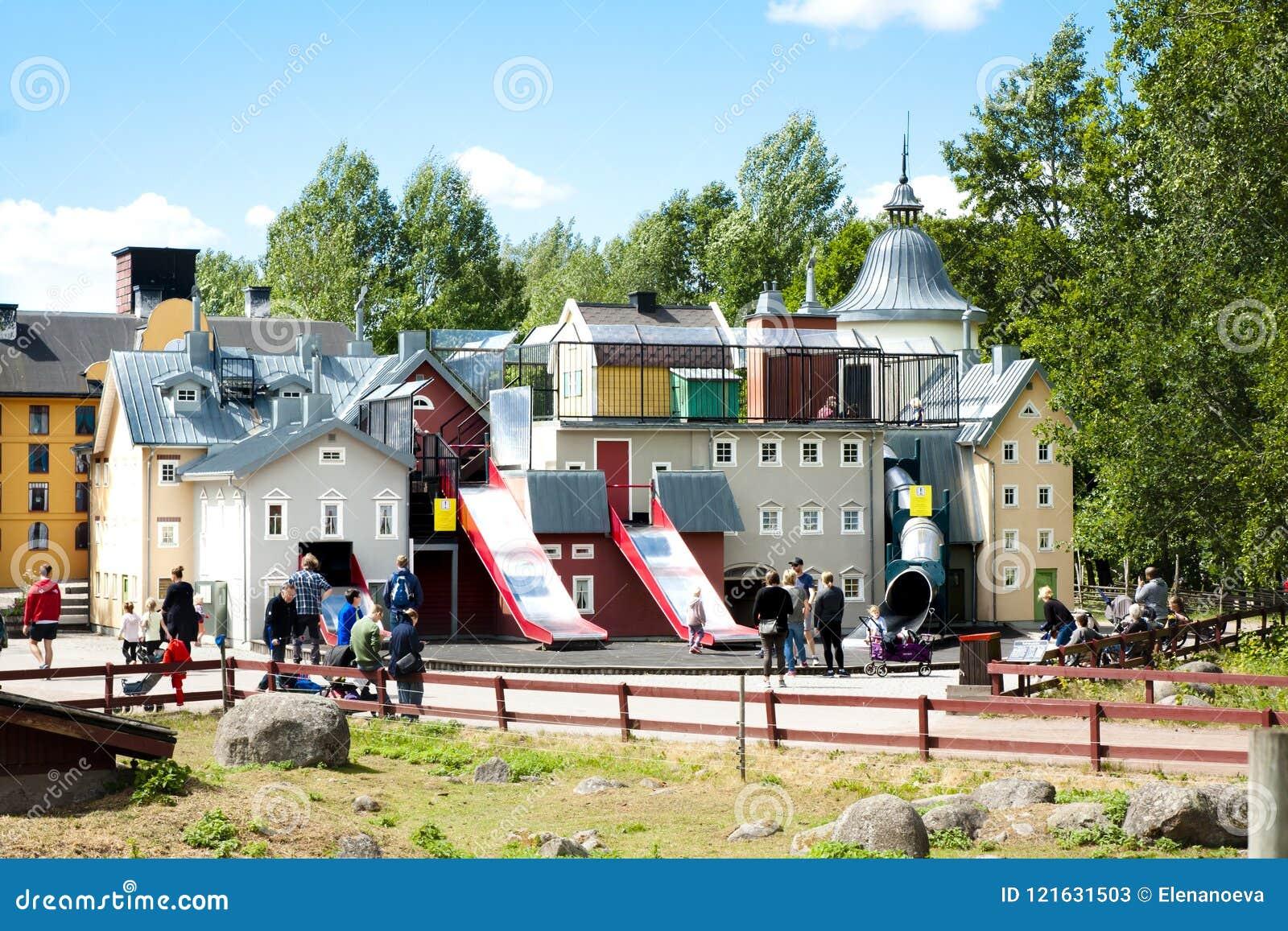 VIMMERBY SVERIGE - Juni 19, 2018 - världen för Astrid Lindgren ` s, Astrid Lindgrens Varld är ett nöjesfält Hus för Karlsson ` s