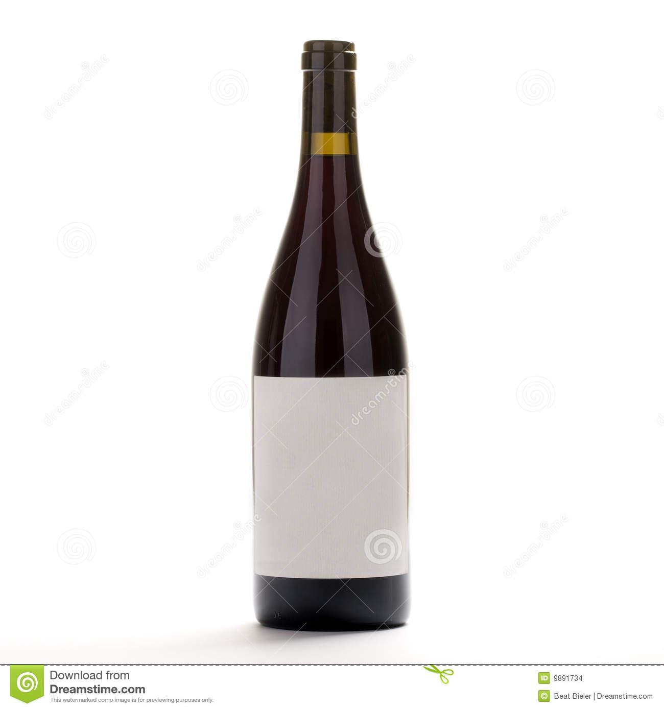 Vin De Bourgogne De Bouteille Photo Stock Image Du Blanc Copie