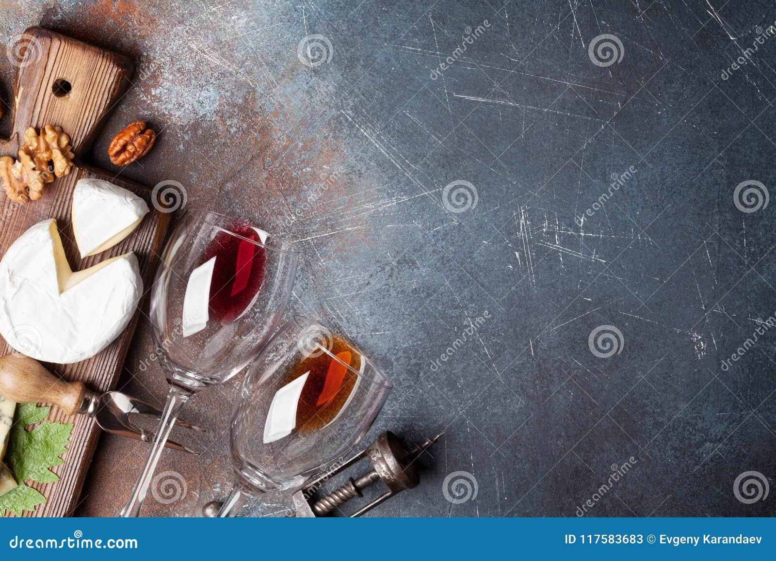 Vin, muttrar och ost