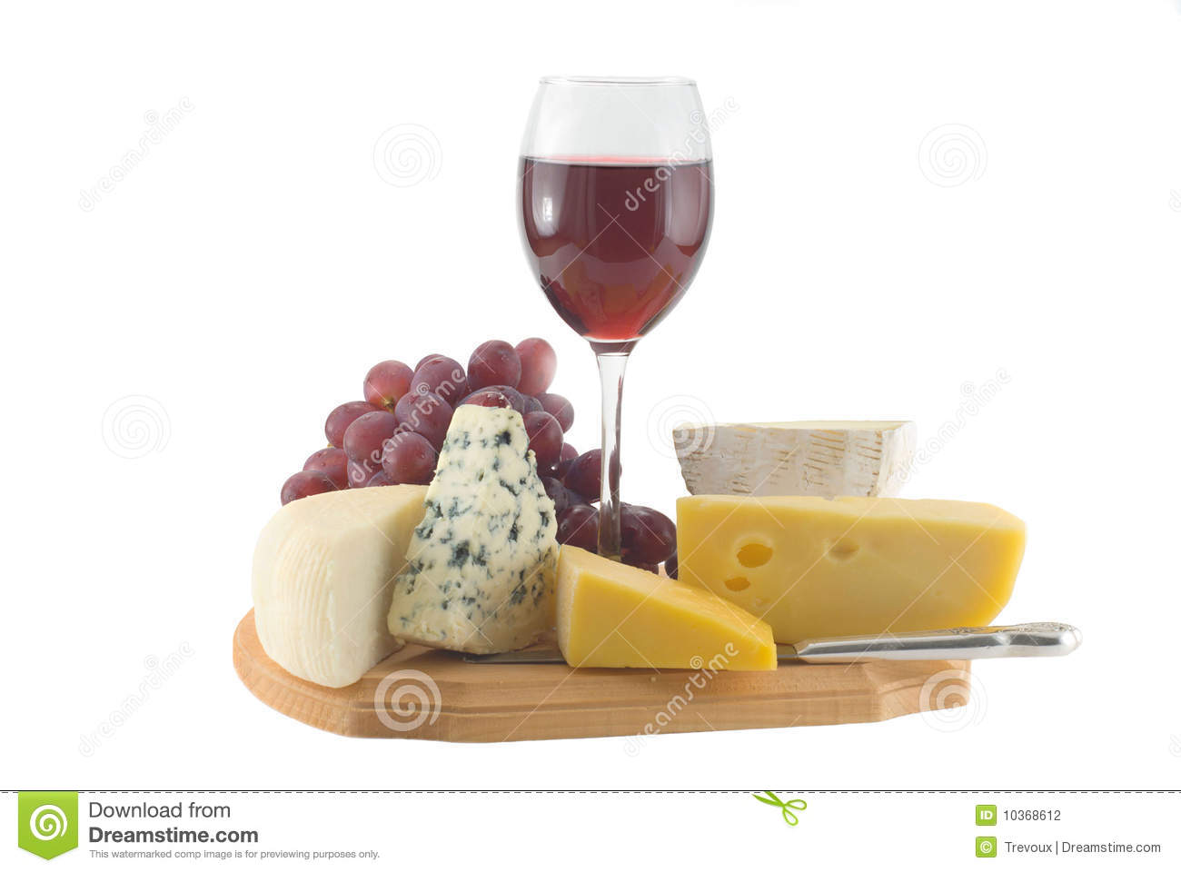 vin rouge de raisins en verre de fromage photographie stock image 10368612. Black Bedroom Furniture Sets. Home Design Ideas