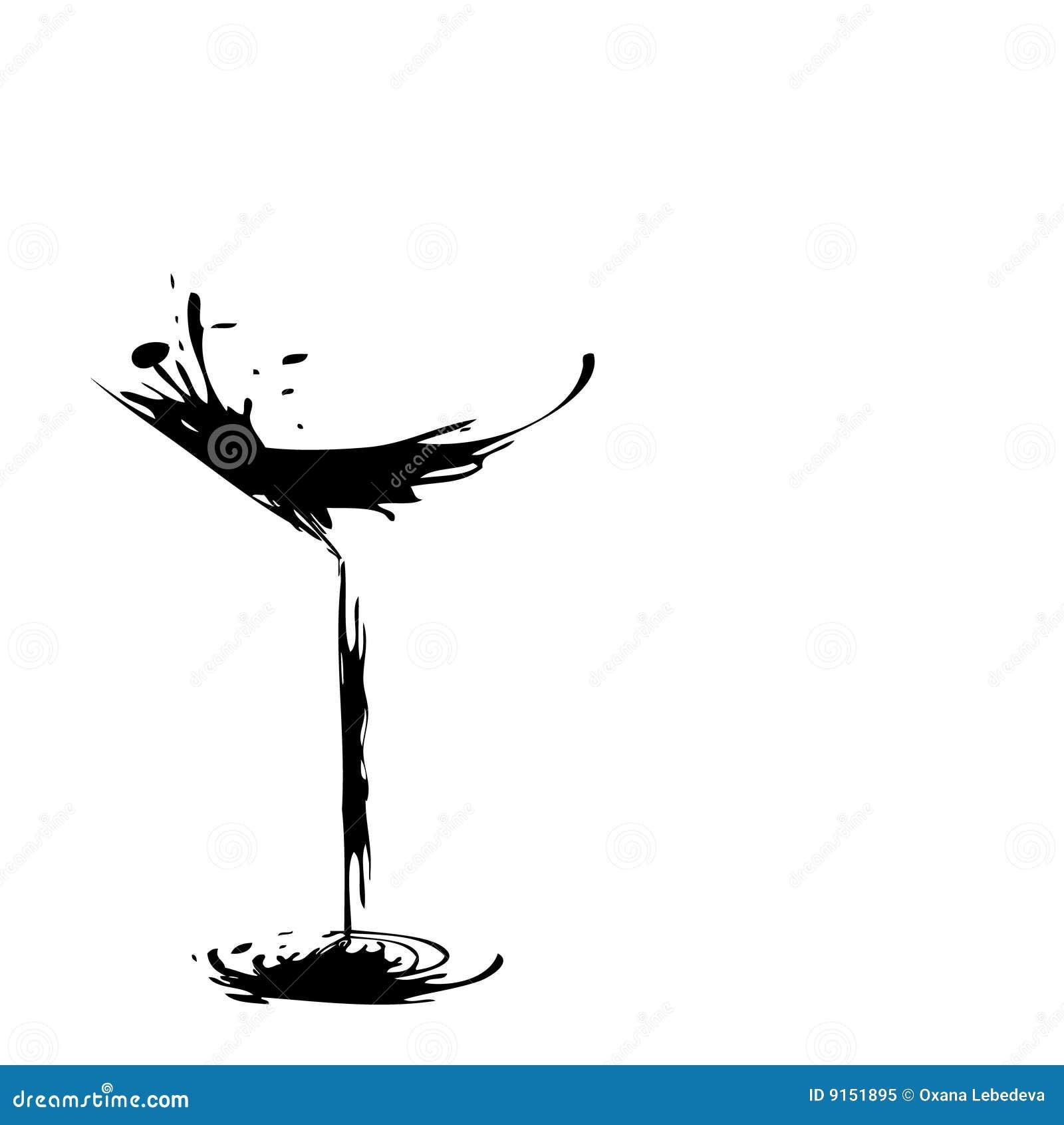 Vin stylis en verre photo libre de droits image 9151895 - Verre de vin dessin ...