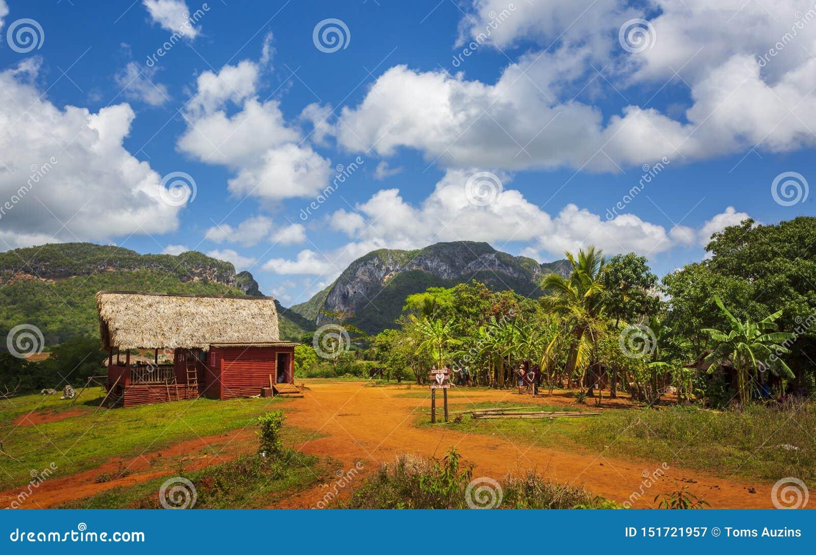 Vinales nationalpark, UNESCO, Pinar del Rio Province, Kuba, västra Indies som är karibiska, Central America