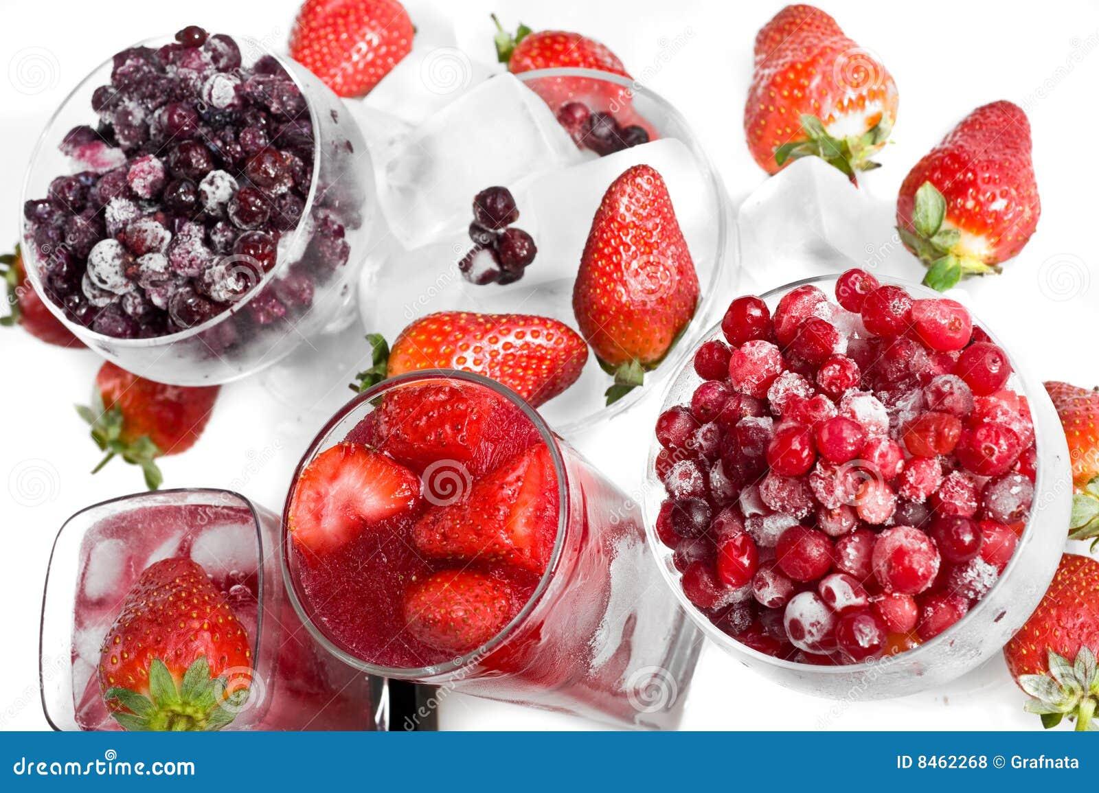 Vinbär fryst jordgubbe