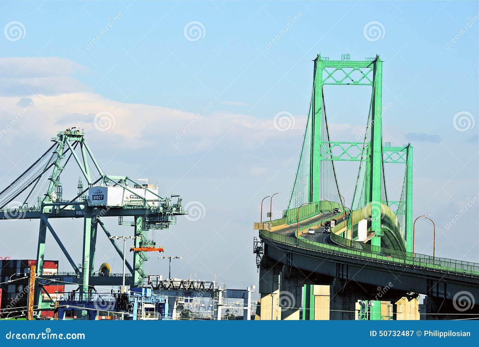 Vincent Thomas Bridge In San Pedro Editorial Photography