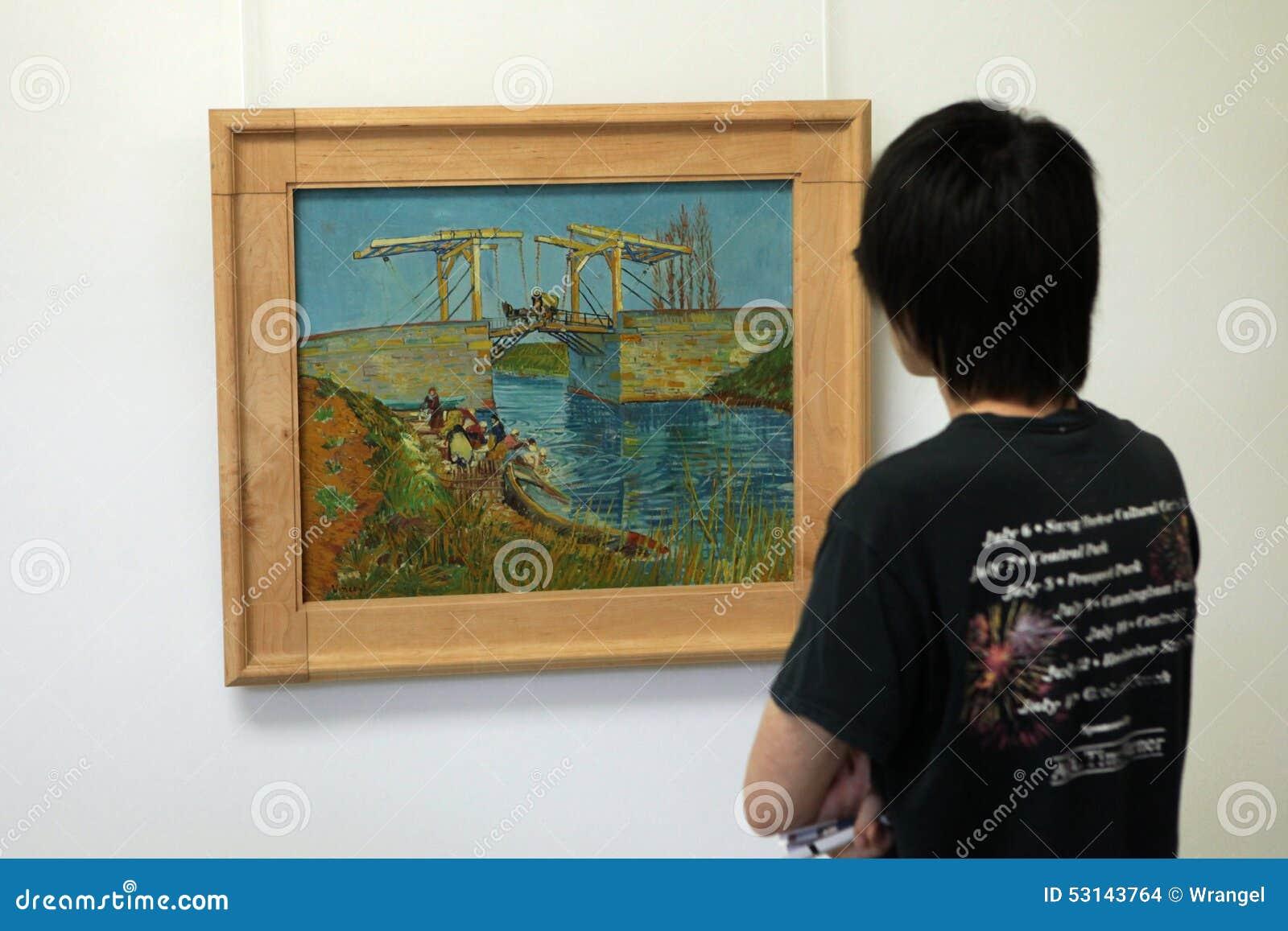 Vincent van Gogh in the Kroller Muller Museum, Otterlo