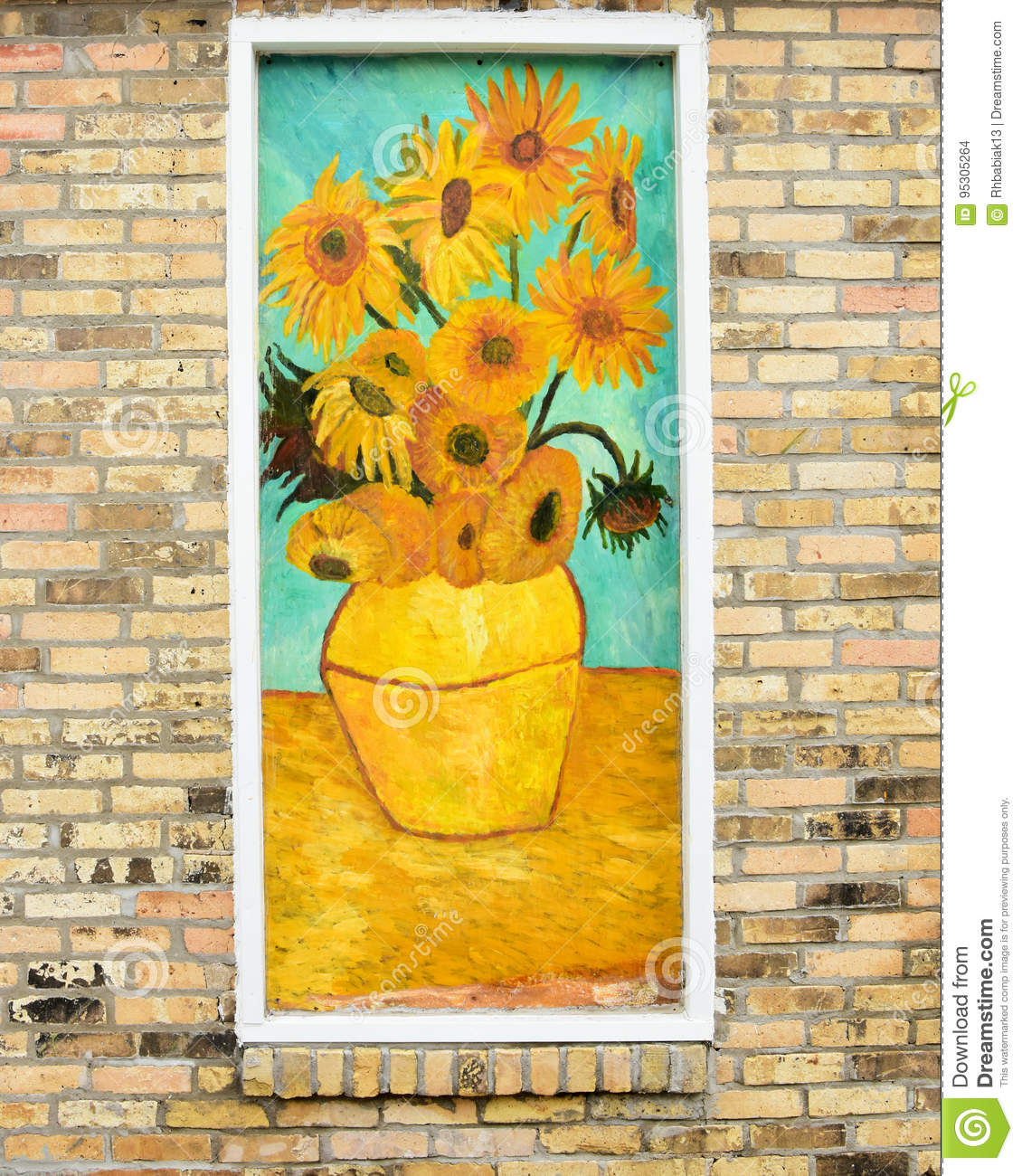 Vincent Van Gogh Sunflowers Editorial Stock Image - Image of paint ...