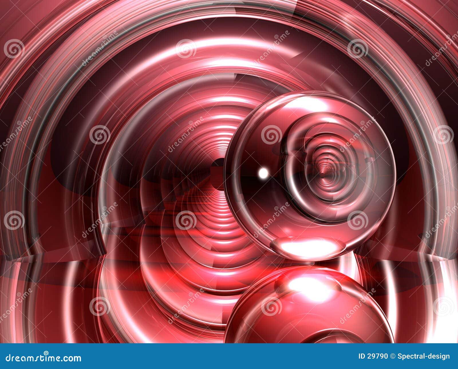 Vindende rode stralen