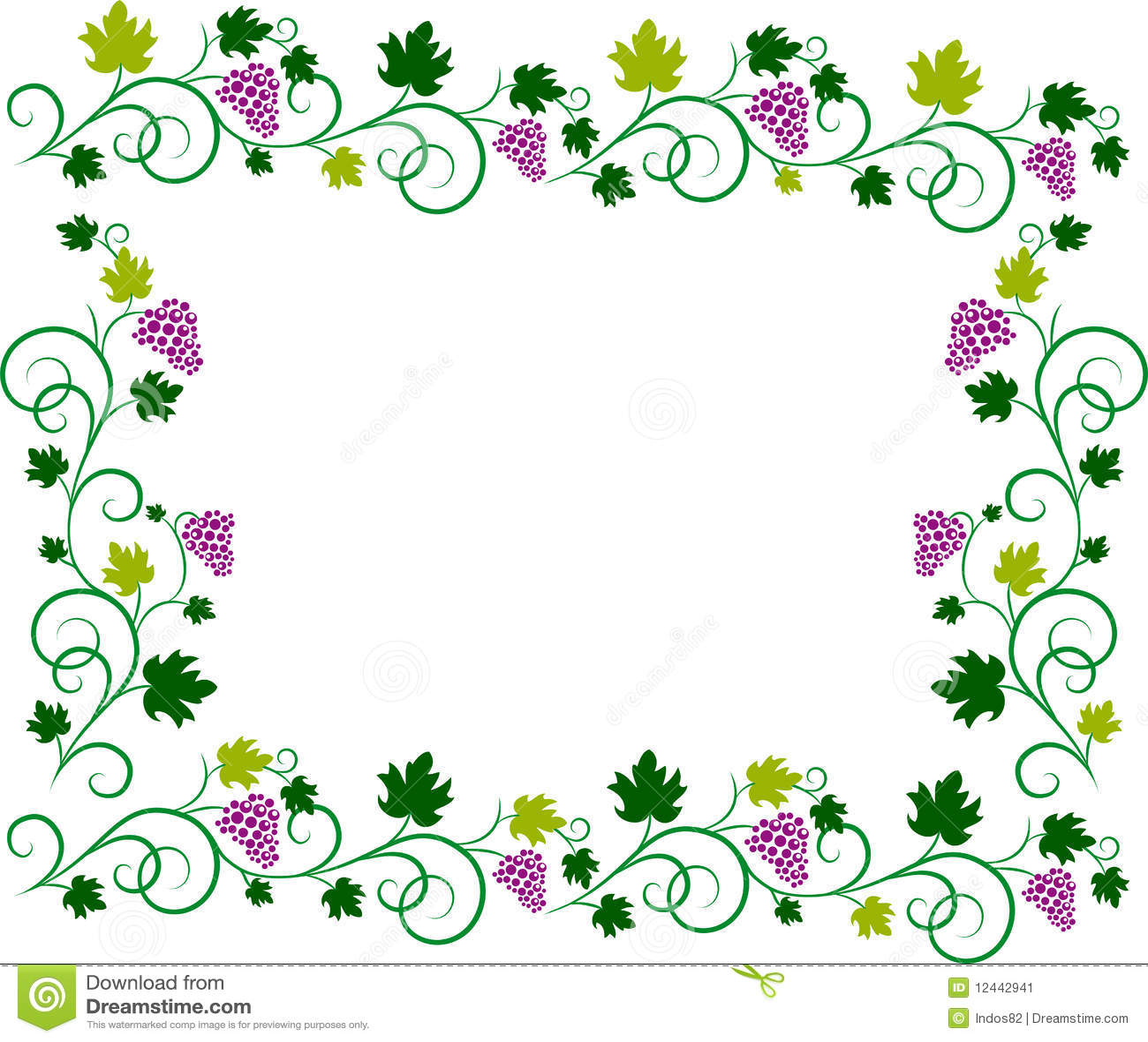 Vine Frame Stock Image Image 12442941