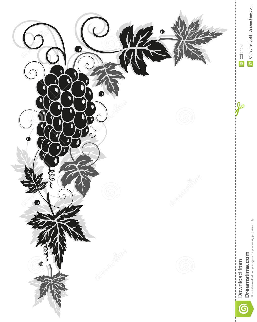 Vine, Leaves, Autumn, Border Stock Image - Image: 33652941