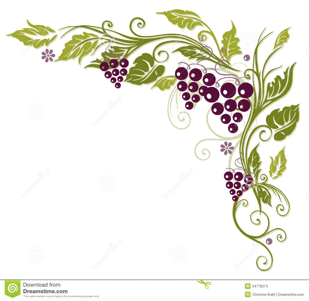 Vine Leaves, Grapes Stock Images - Image: 34778274
