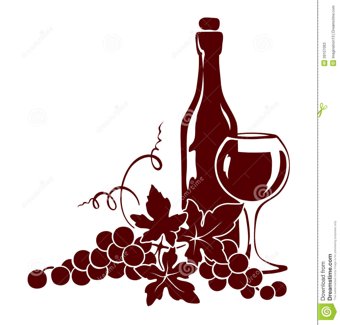vine and a wine bottle stock vector image of backgrounds
