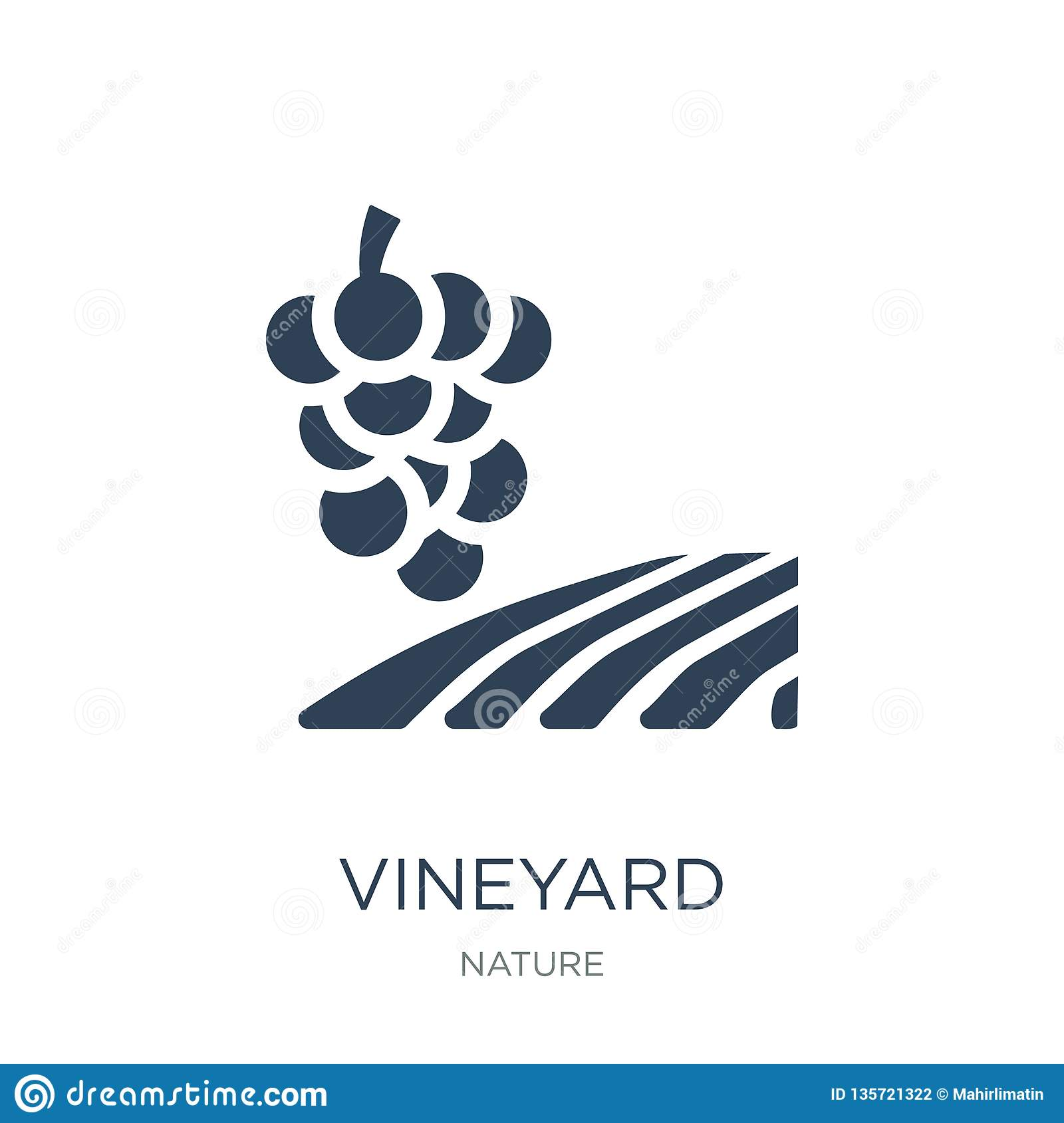 vineyard icon in trendy design style. vineyard icon isolated on white background. vineyard vector icon simple and modern flat