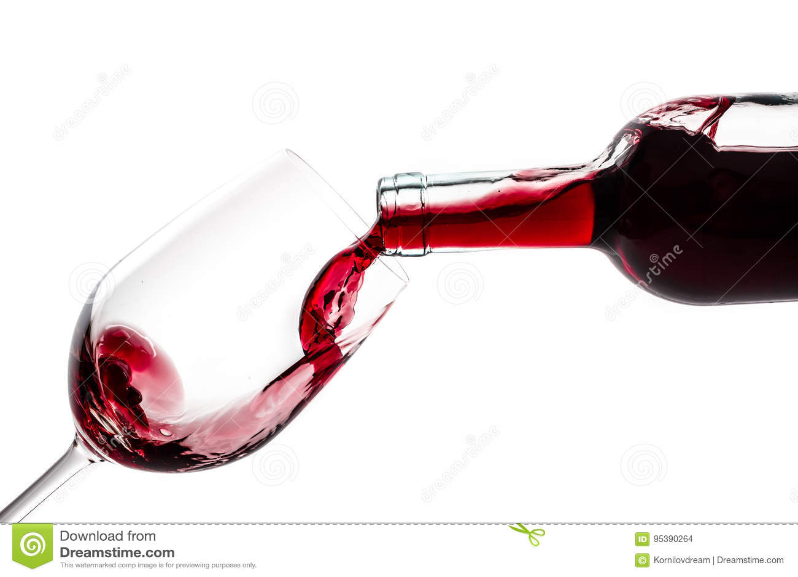 Vinglas för vinflaska