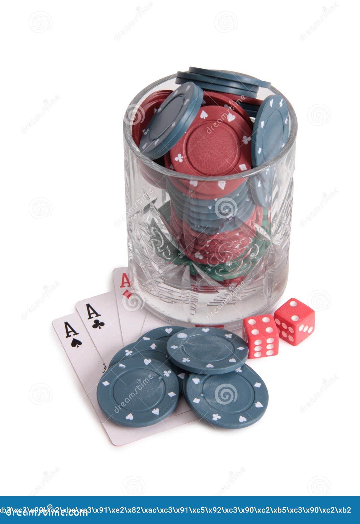Vinglas och kasino en