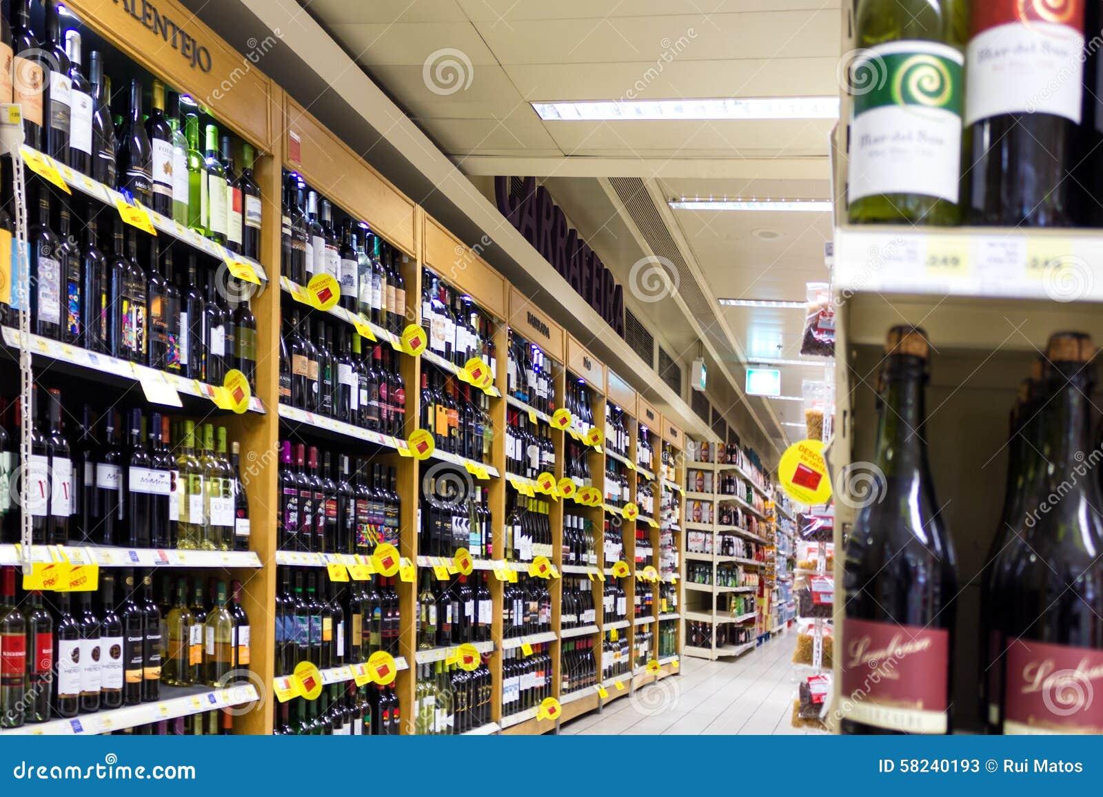 Vinhos no supermercado