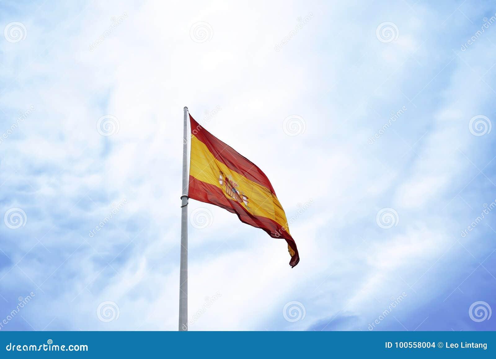 Vinka för Spanien flagga