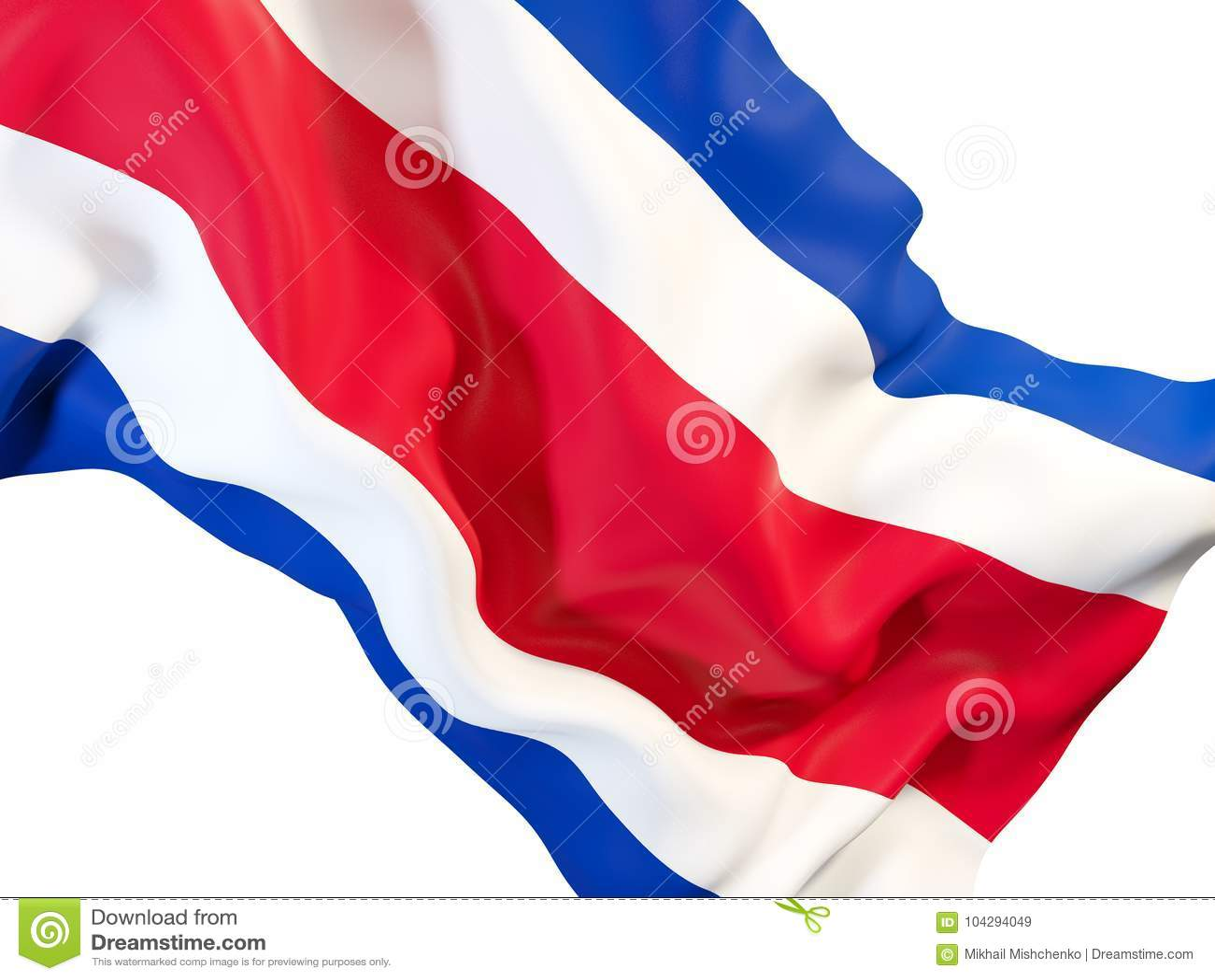 Vinkande flagga av Costa Rica