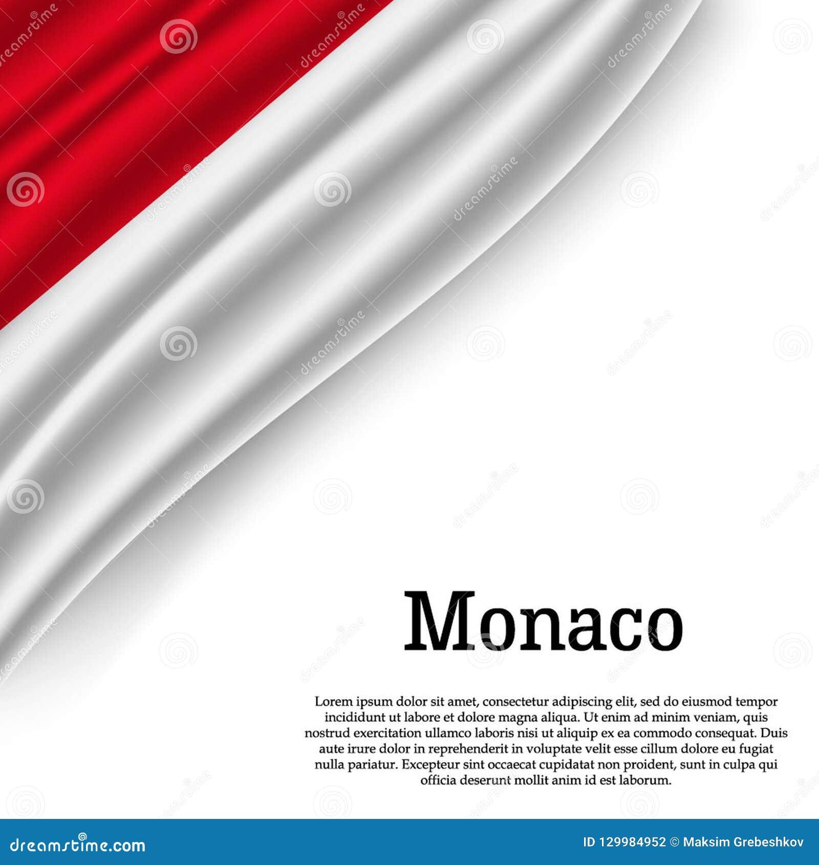Vinkande flagga av Monaco