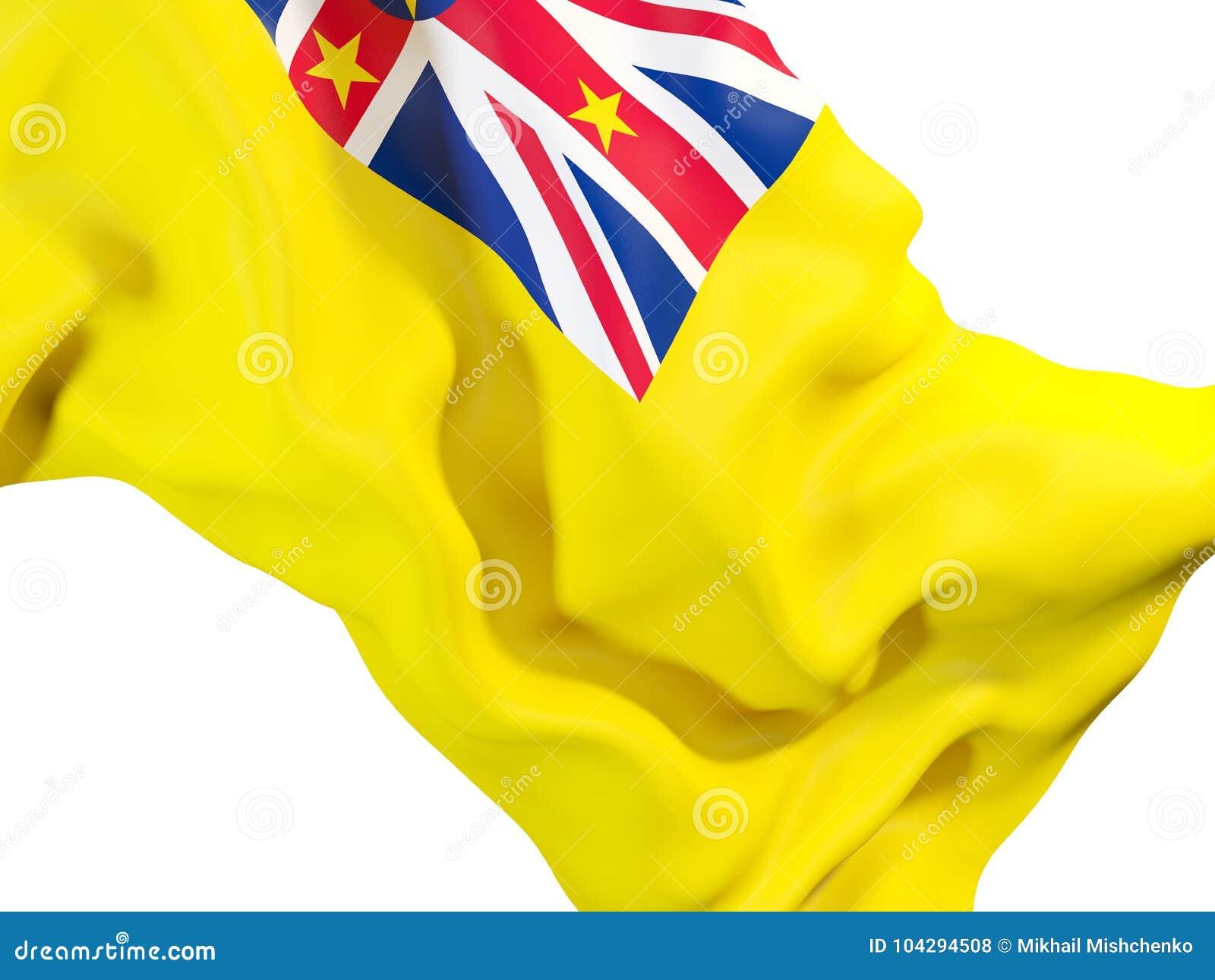 Vinkande flagga av niue