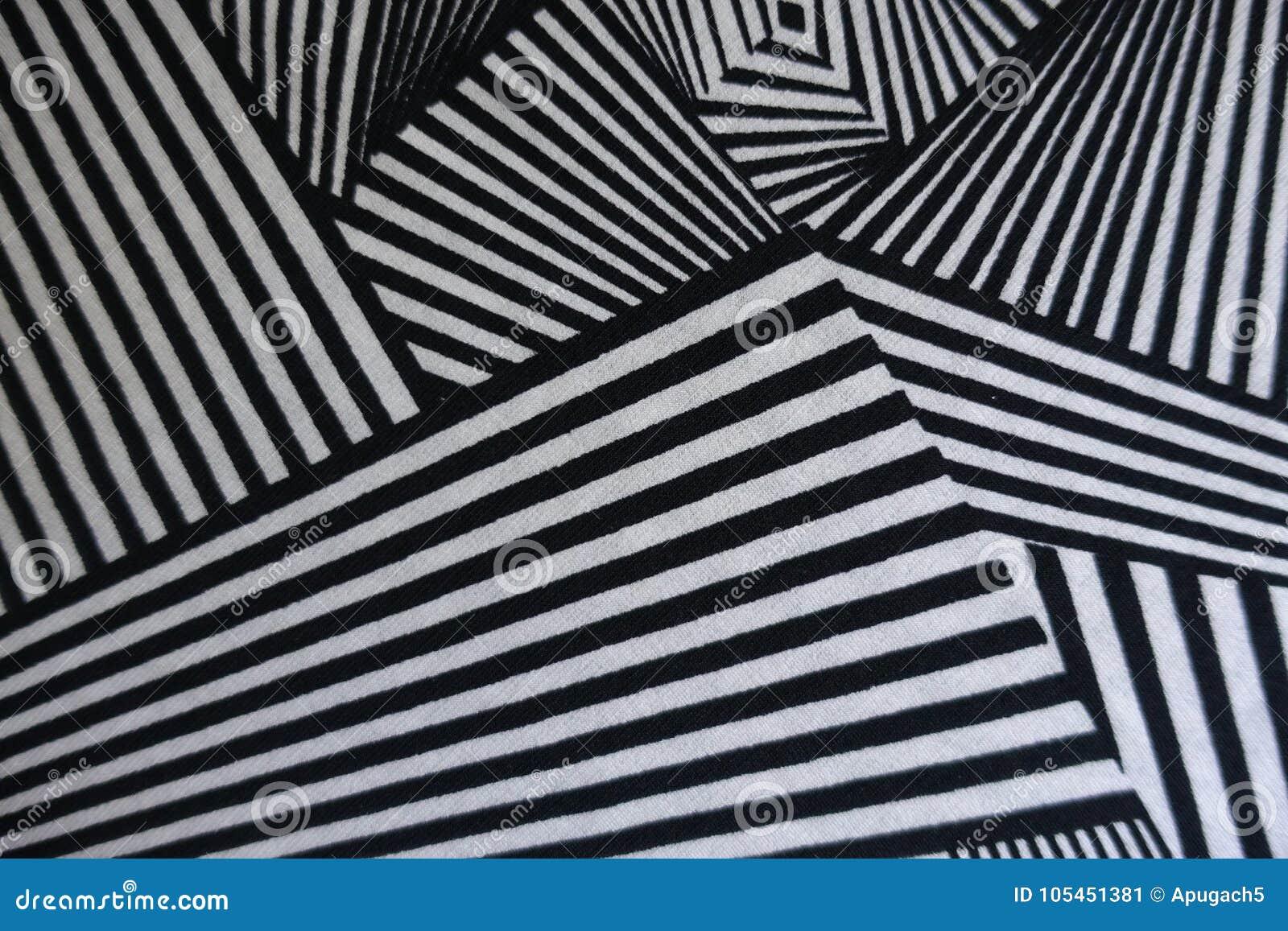 Vinkeltryck på svartvitt tyg