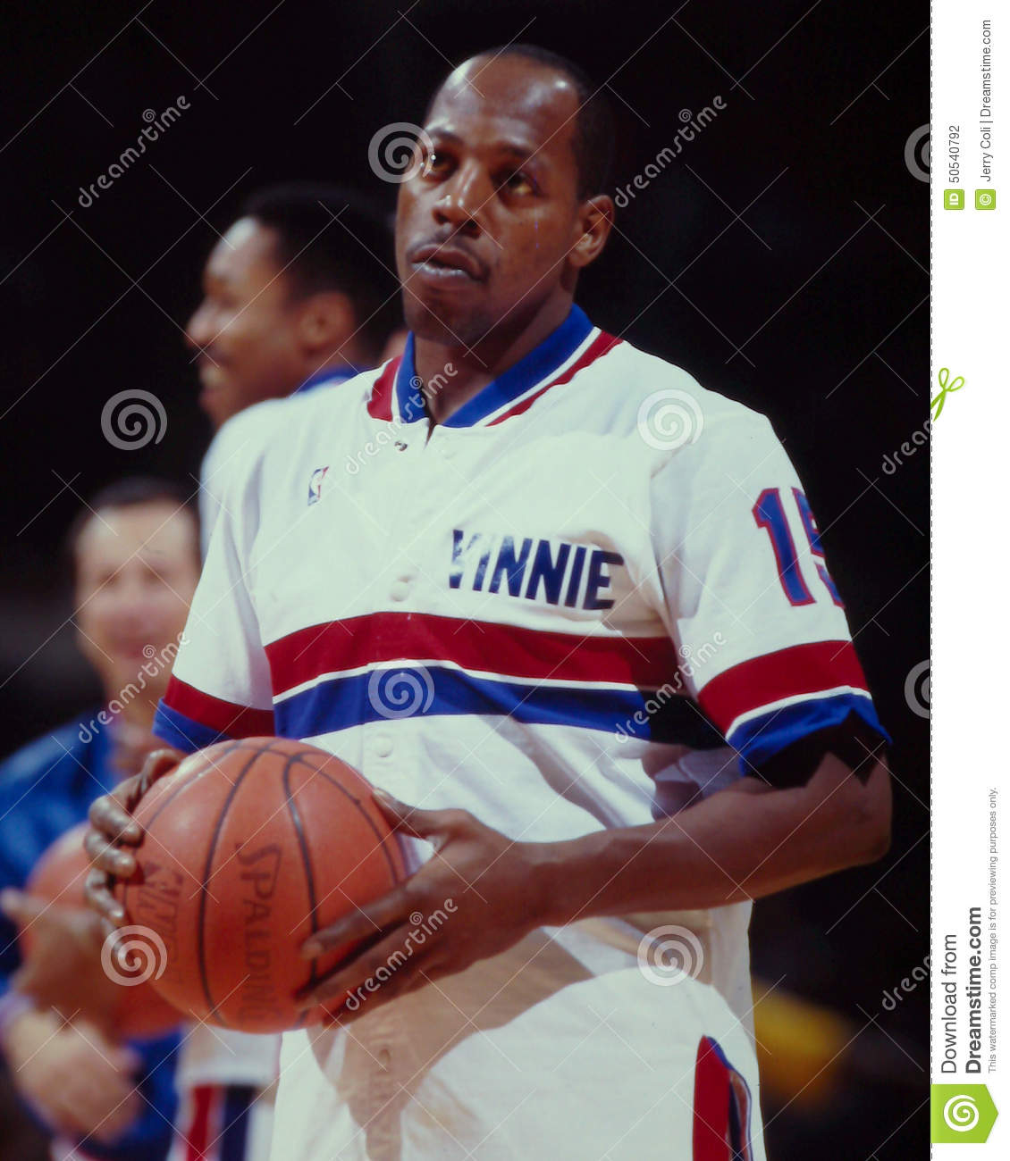 Vinnie Johnson Detroit Pistons Editorial graphy Image