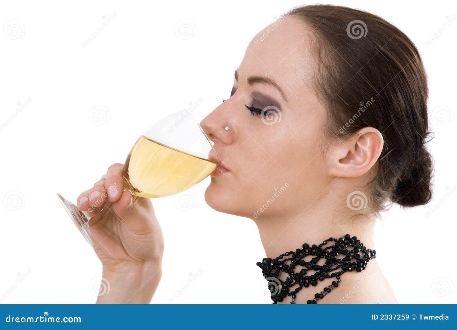 Vino bevente della donna