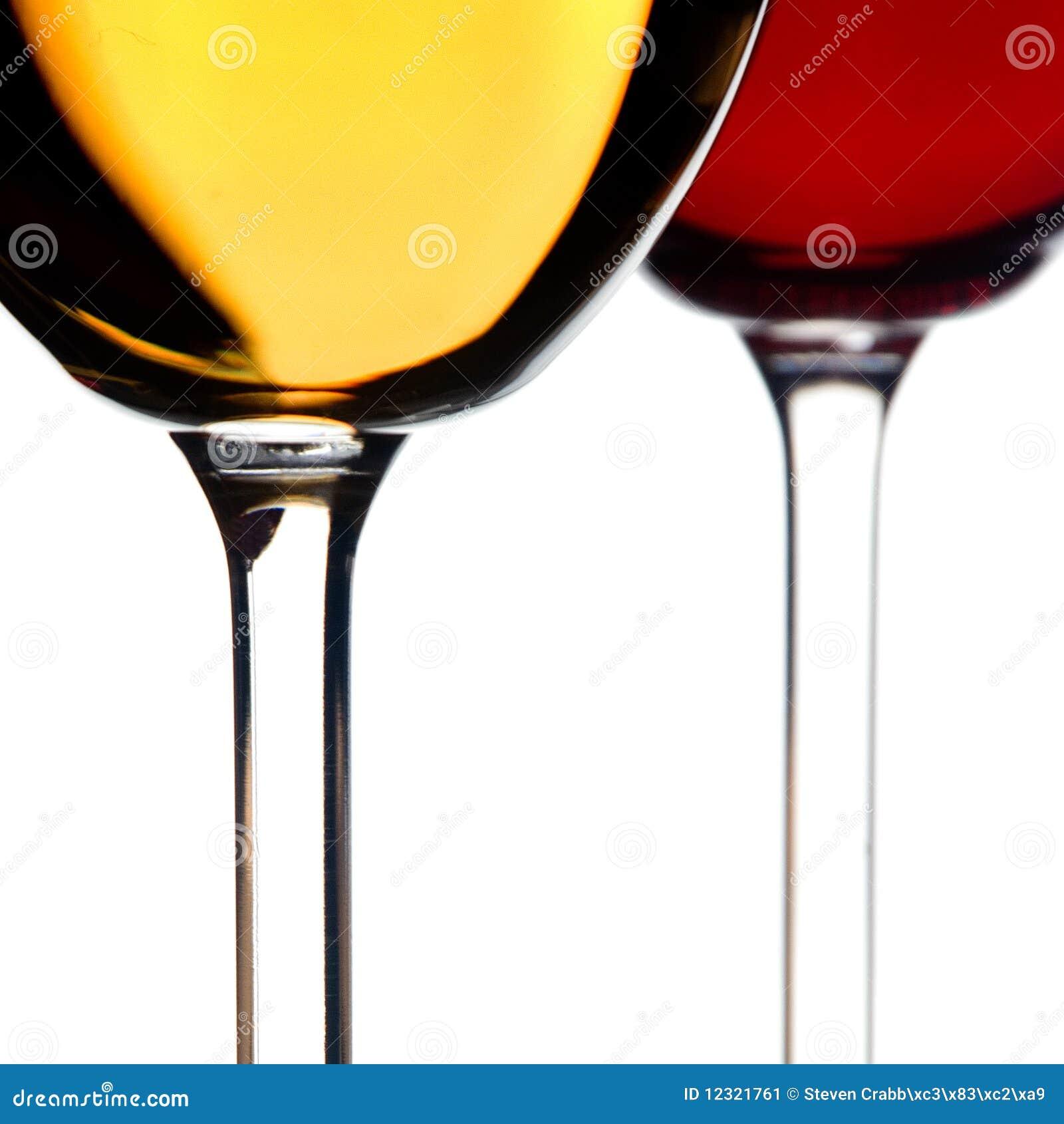 Vino rosso bianco e
