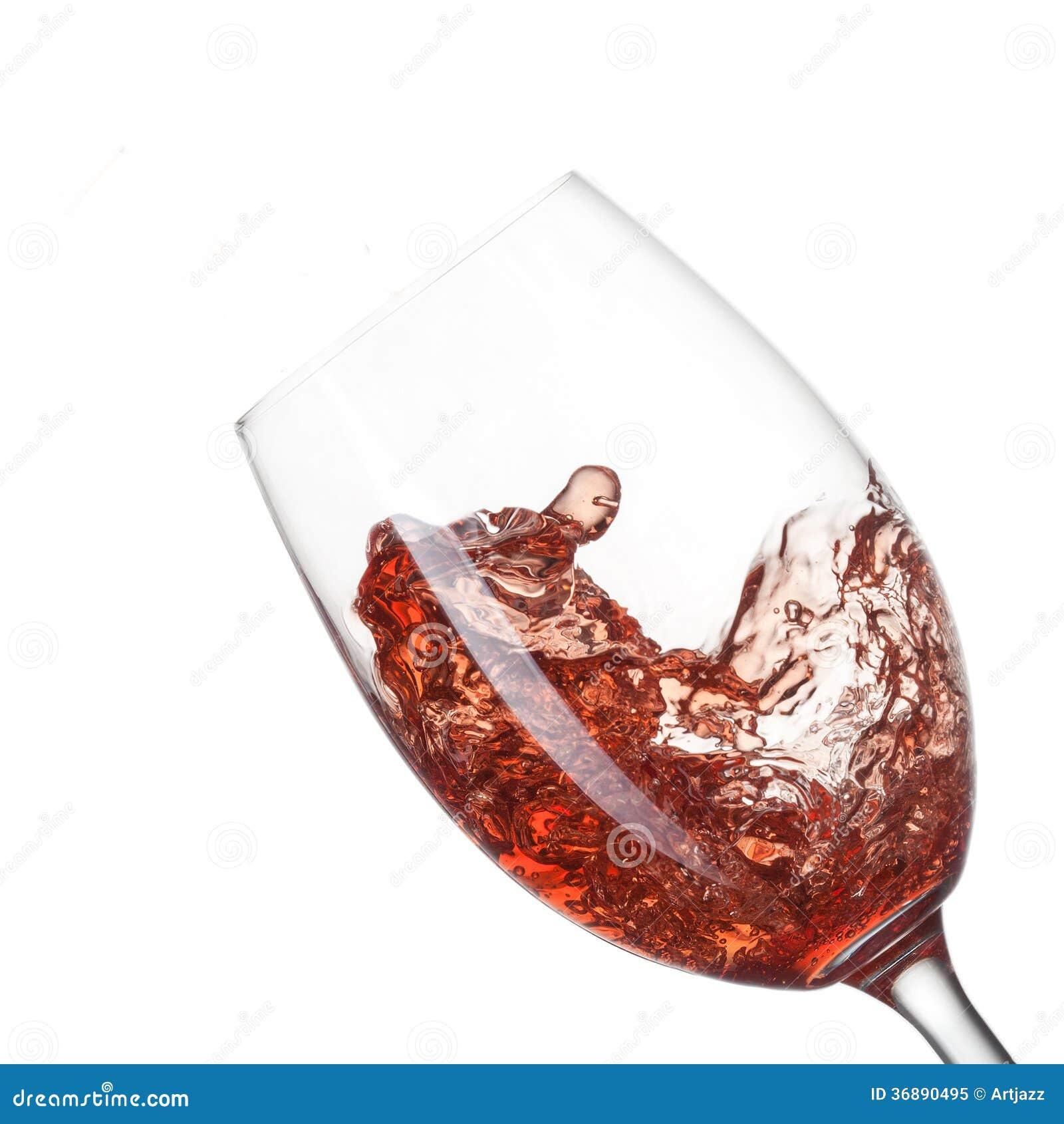 Download Vino Rosso Che Versa Nel Vetro Con Spruzzata Isolata Su Bianco Immagine Stock - Immagine di organico, partito: 36890495
