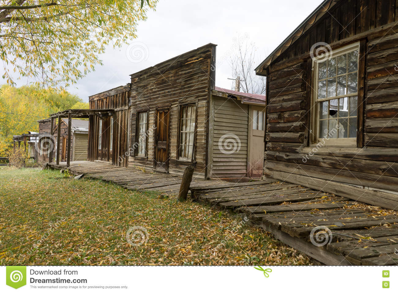 Vintage Abandoned Buildings In Nevada City Montana Usa Stock Photo Image Of Town City 71370550