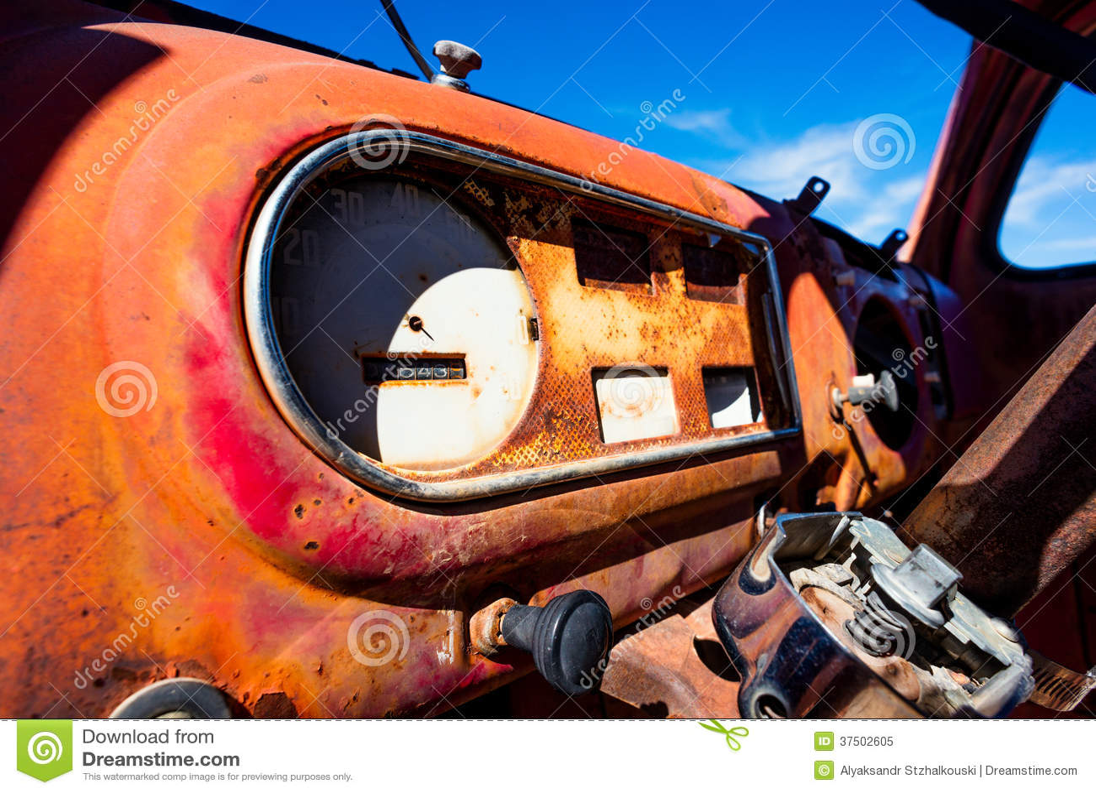 rusty car dashboard stock photo 38116590. Black Bedroom Furniture Sets. Home Design Ideas