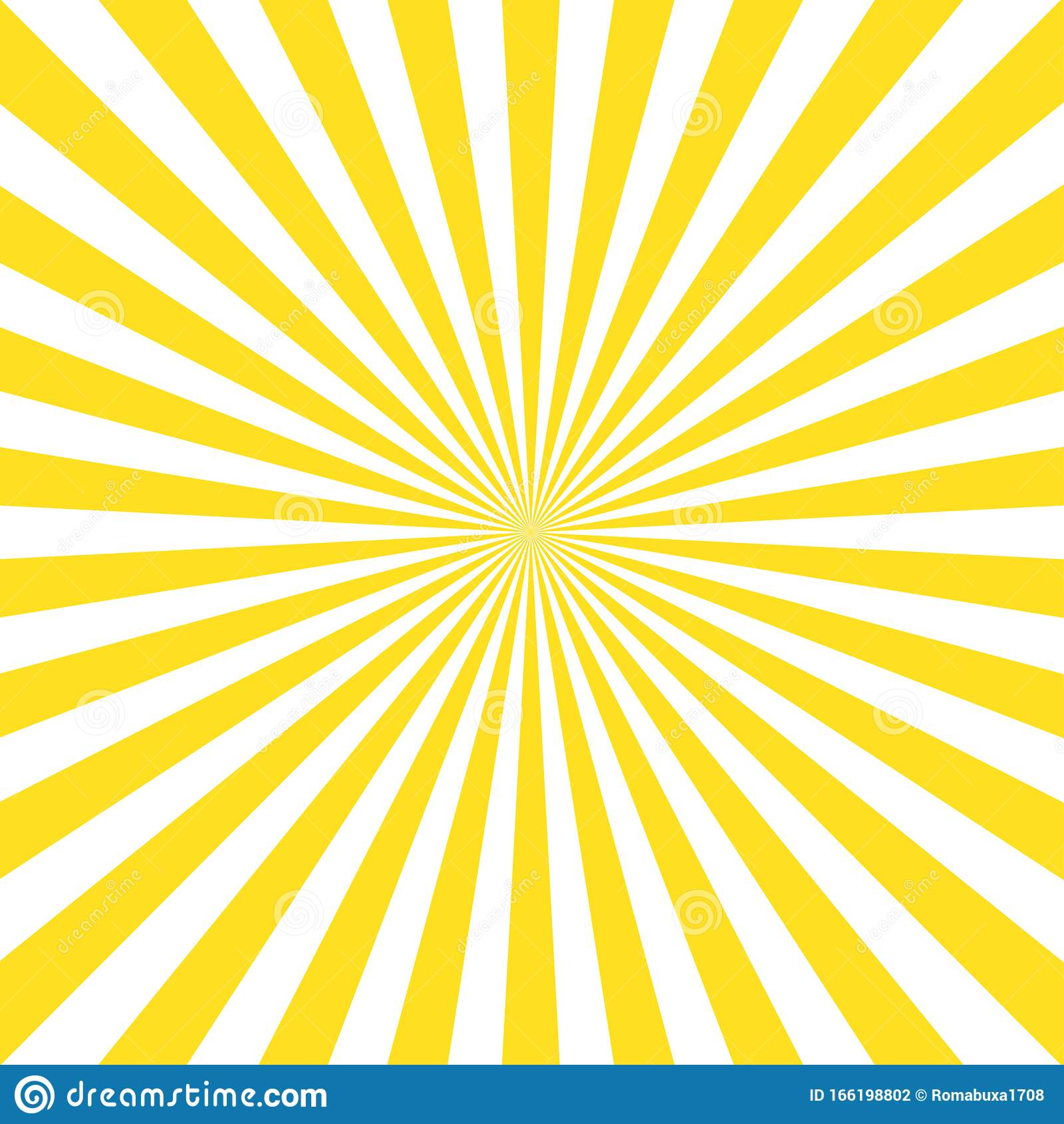 Vintage Abstract Template With Yellow Sunrays On Light