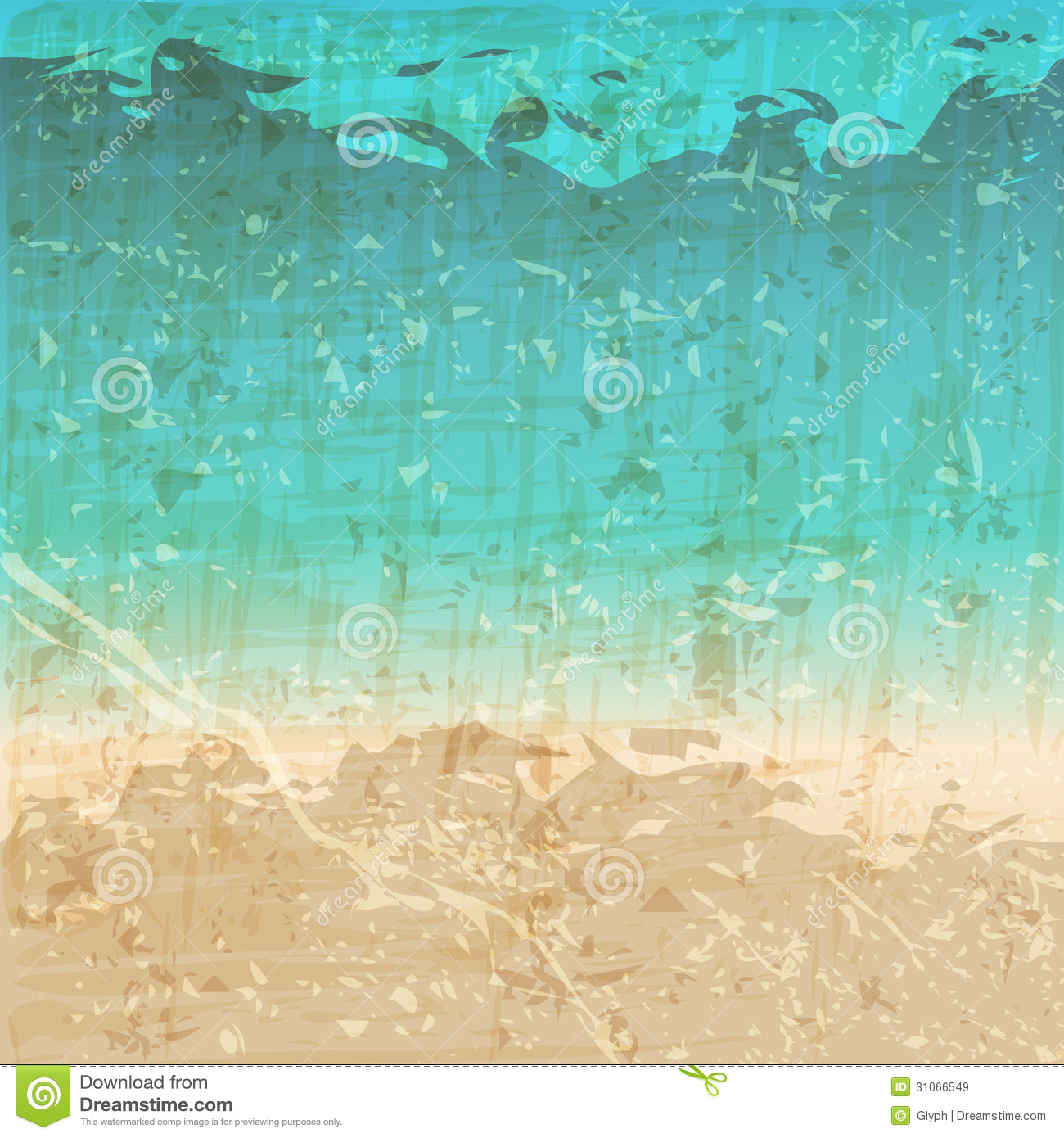 Retro Beach Illustration Royalty Free Stock Photo: Vintage, Abstract Texture Royalty Free Stock Images