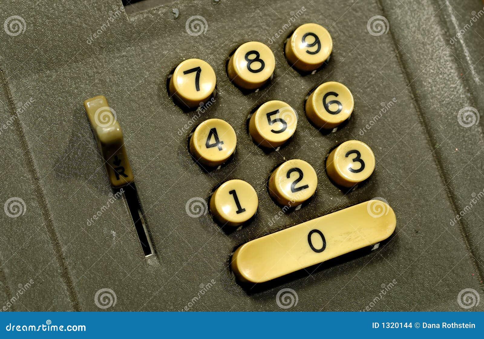 adding machine buttons