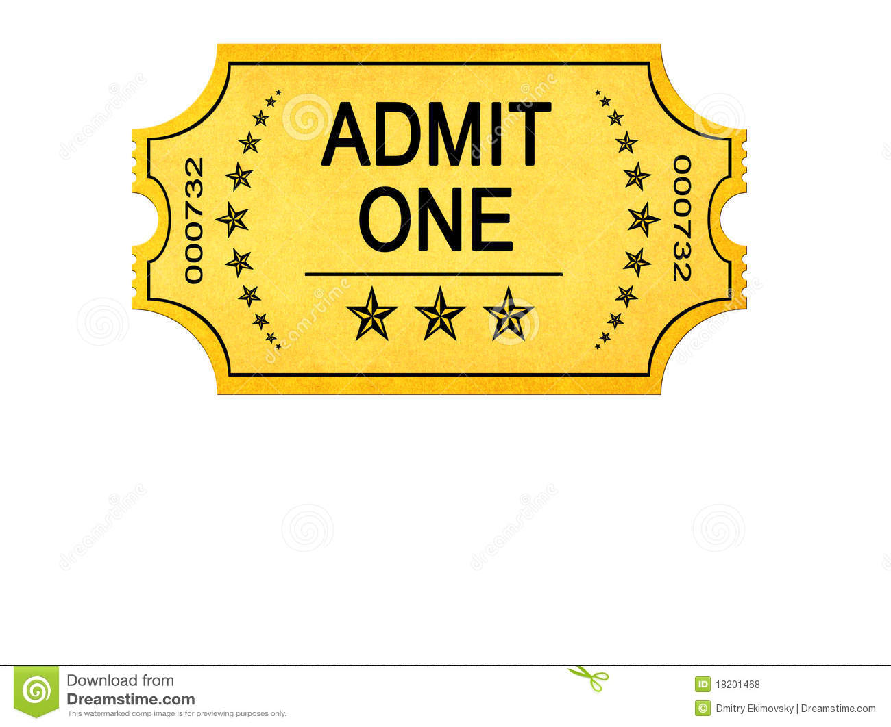 Circus Ticket Clip Art Admit one entrance ticket