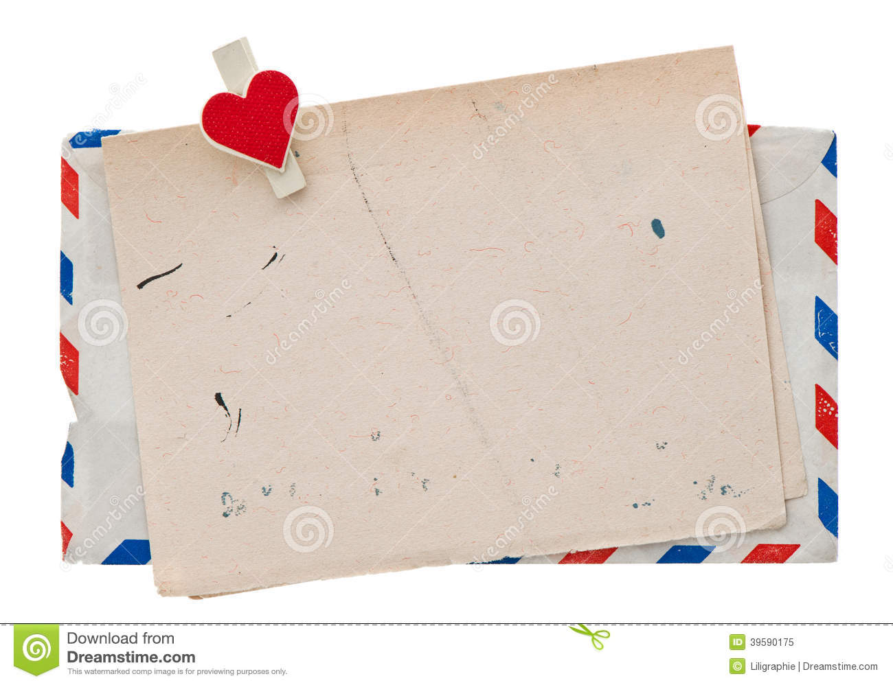 ... Mail Envelope. Retro Post Love Letter Stock Photo - Image: 39590175