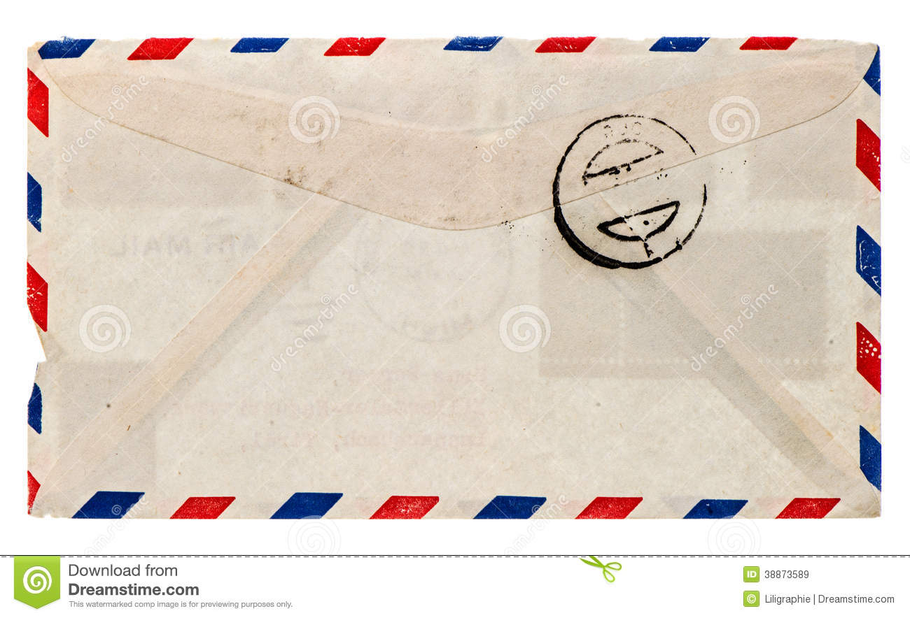 Vintage Airmail Envelope Retro Post Letter Stock Photo