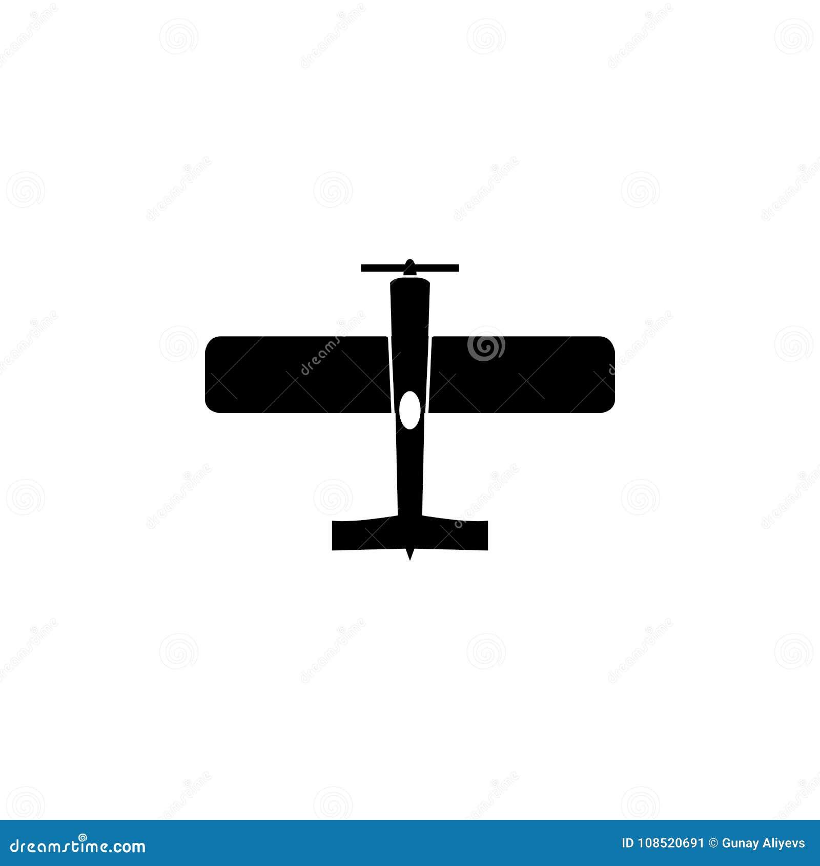 Vintage Airplane Icon Military Aircraft Element Icon Premium