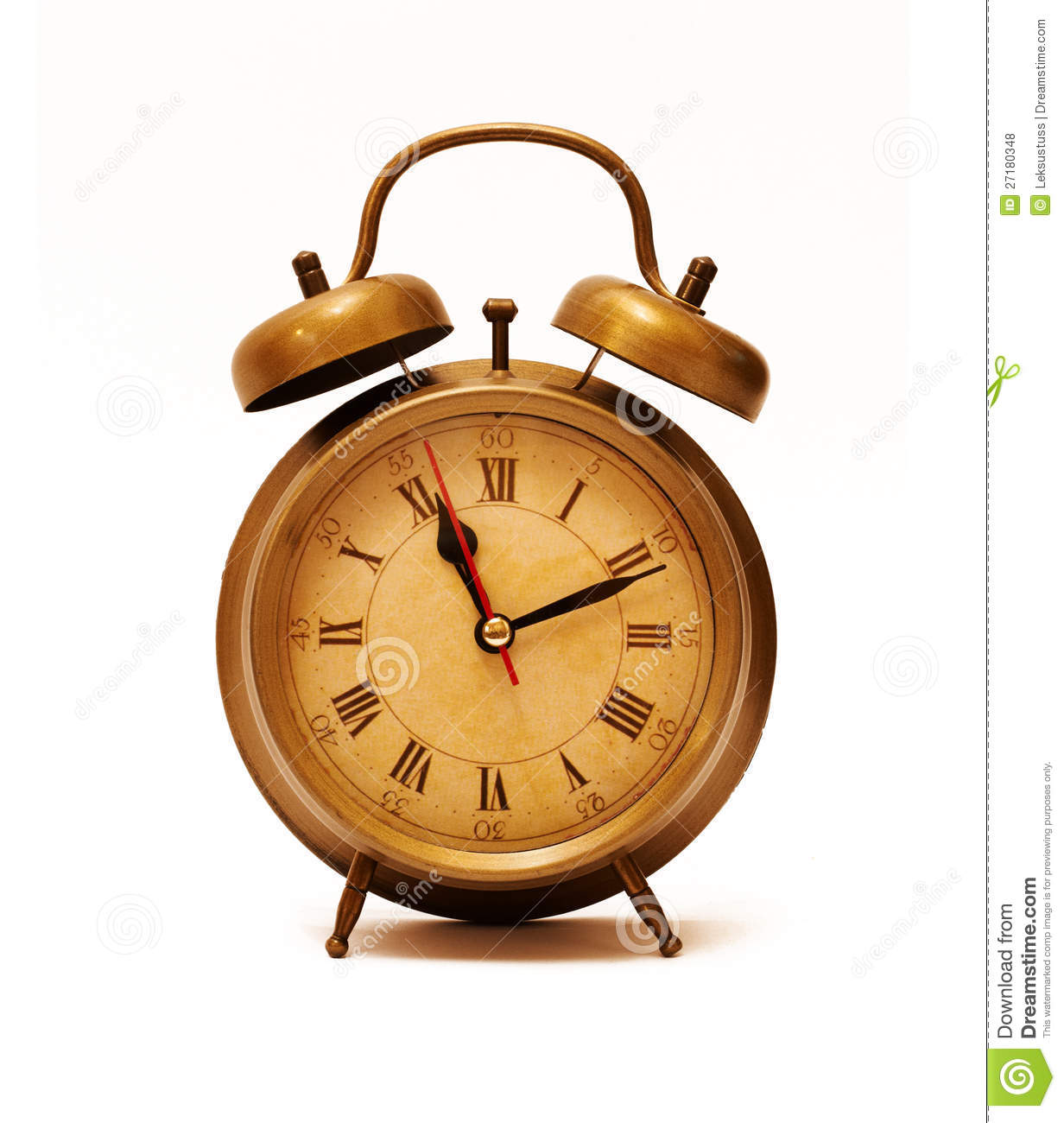 Vintage Alarm Clock Stock Photo Image Of Awake Dial