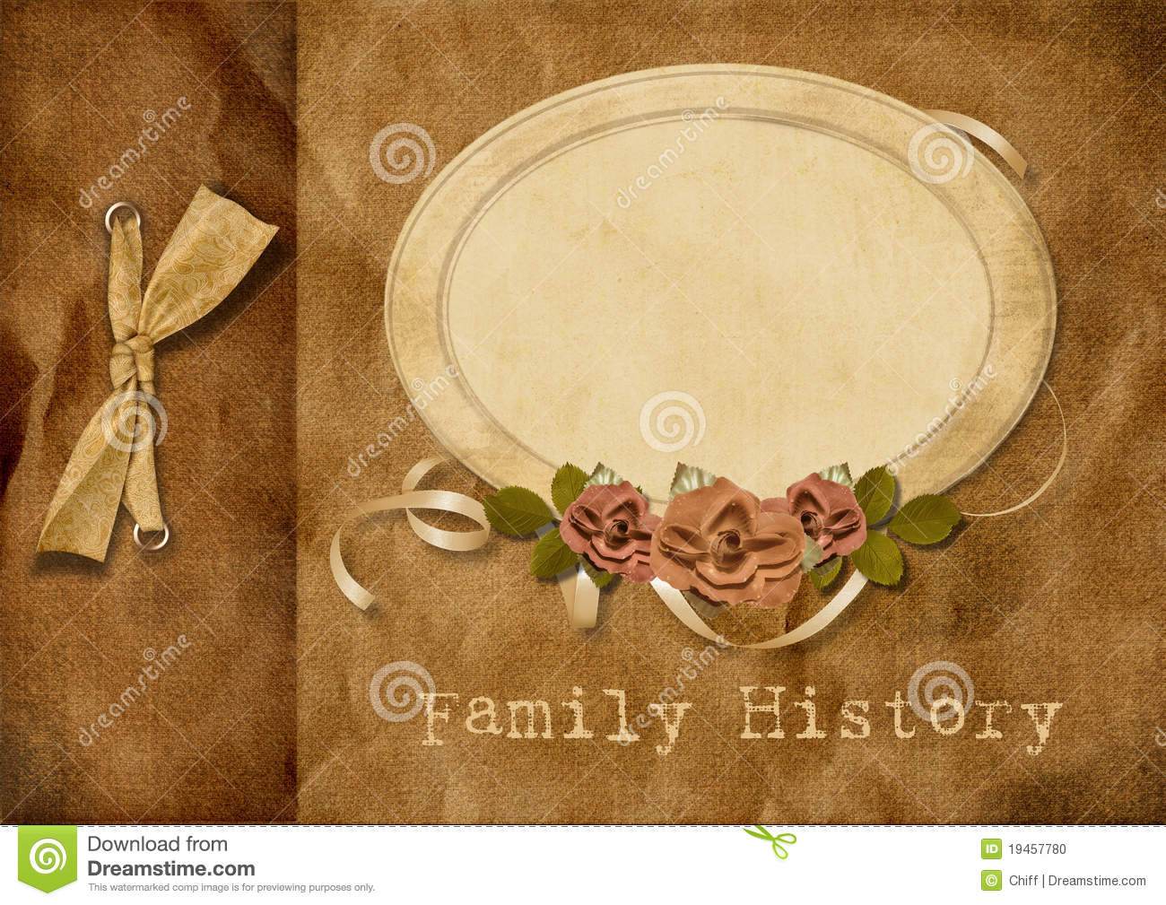 Vintage Album Family Tree Stock Illustration Image Of