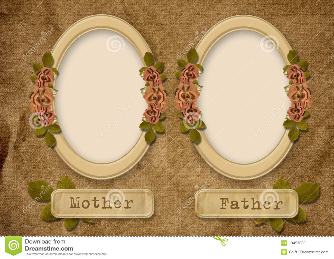 vintage album family tree stock photo