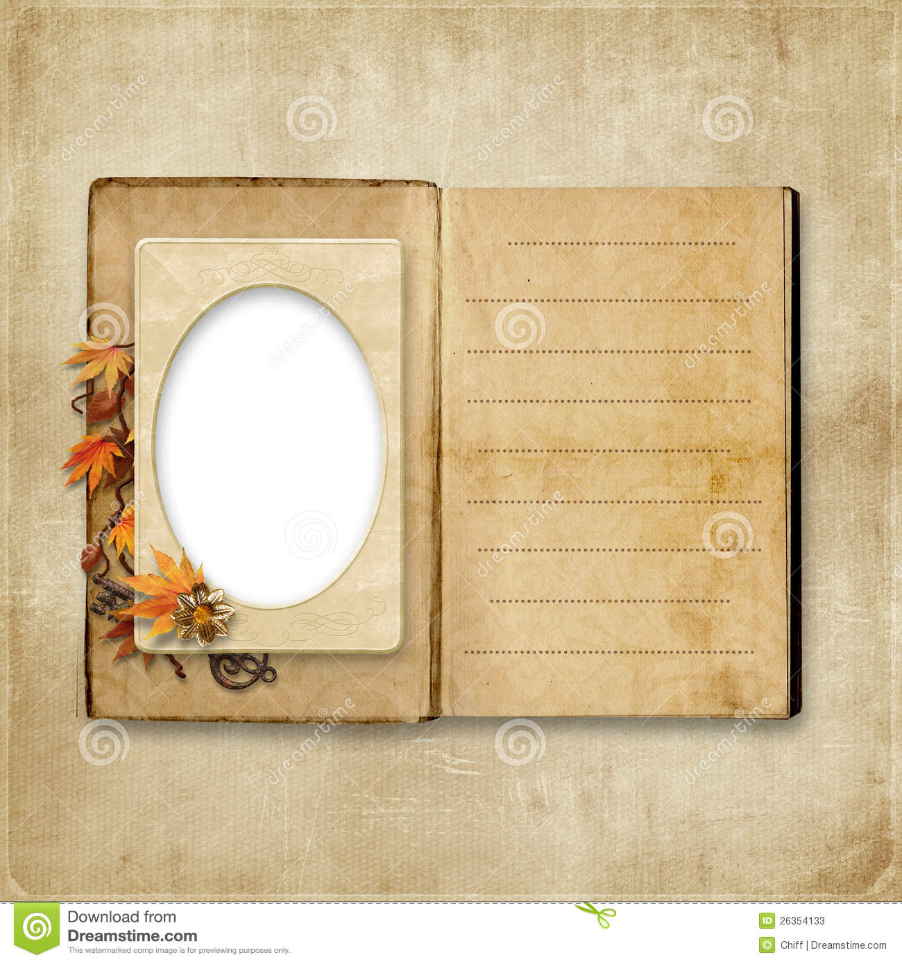 Vintage album with frame for photo stock photos image - Retro vintage ...