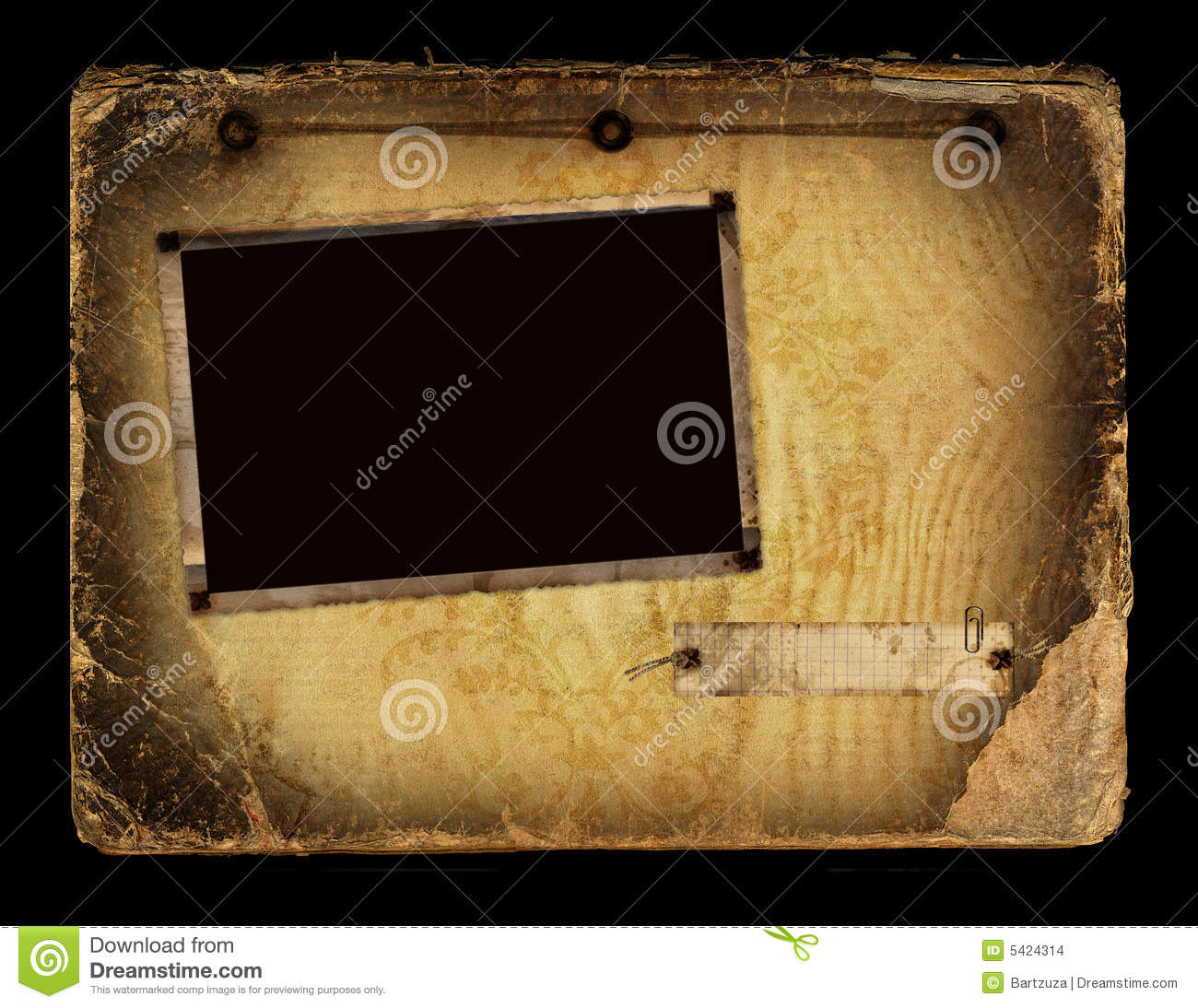 Photo Page: Vintage Album Page Stock Photo. Image Of Grimy, Background